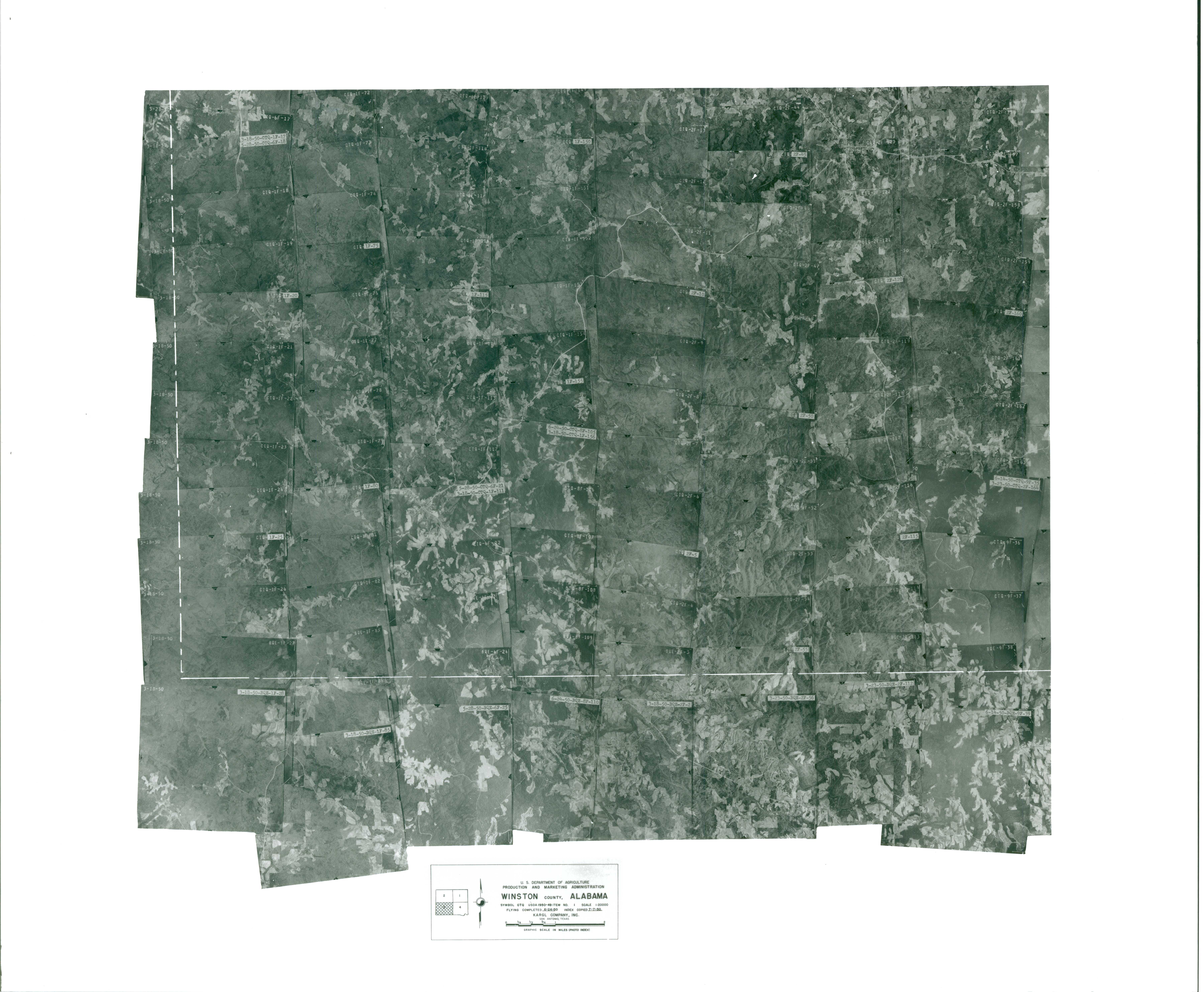 Aerial Photography Index for Winston County, Alabama, Sheet 3