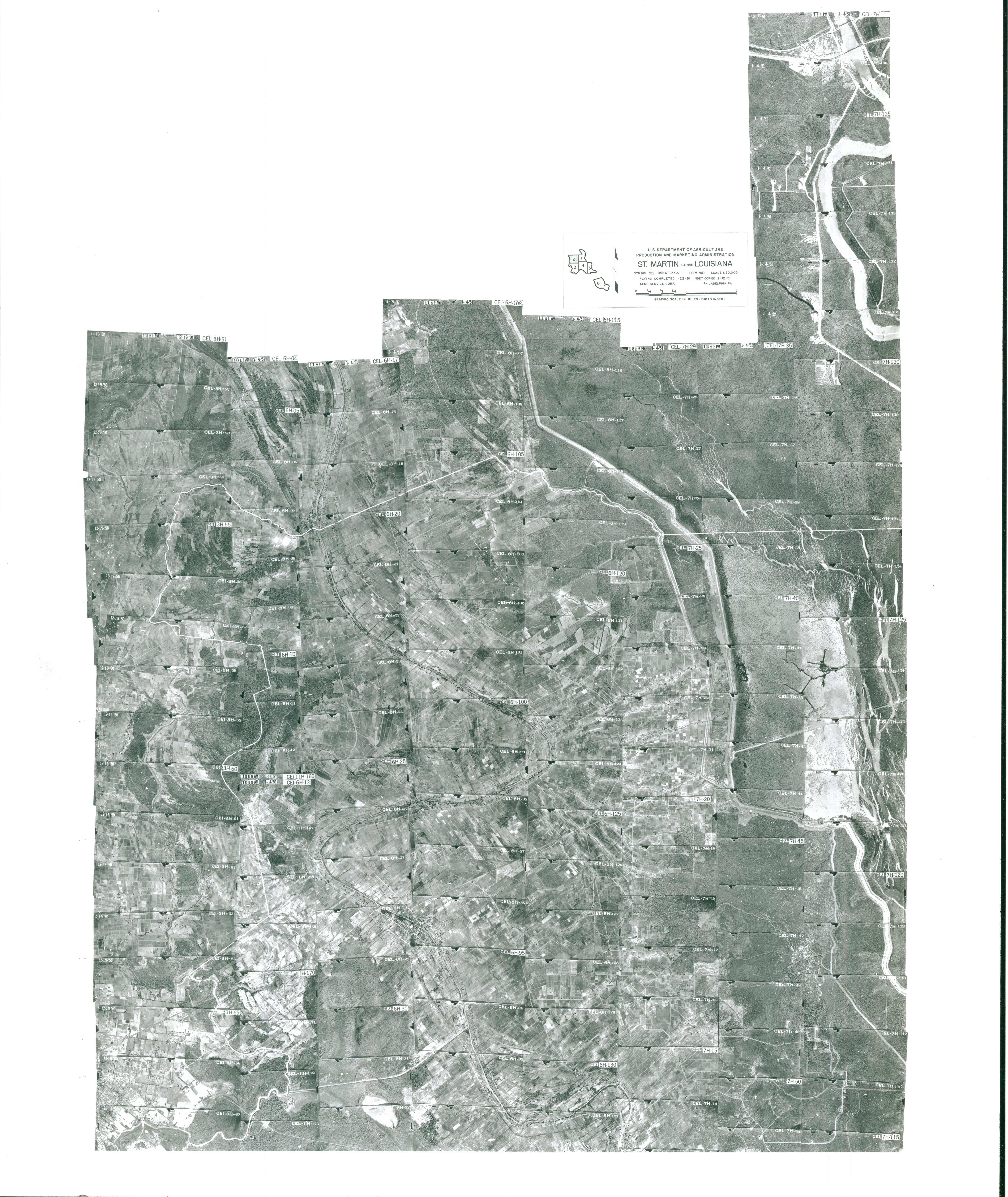 Index to Aerial Photography of St Martin Parish, Louisiana 2