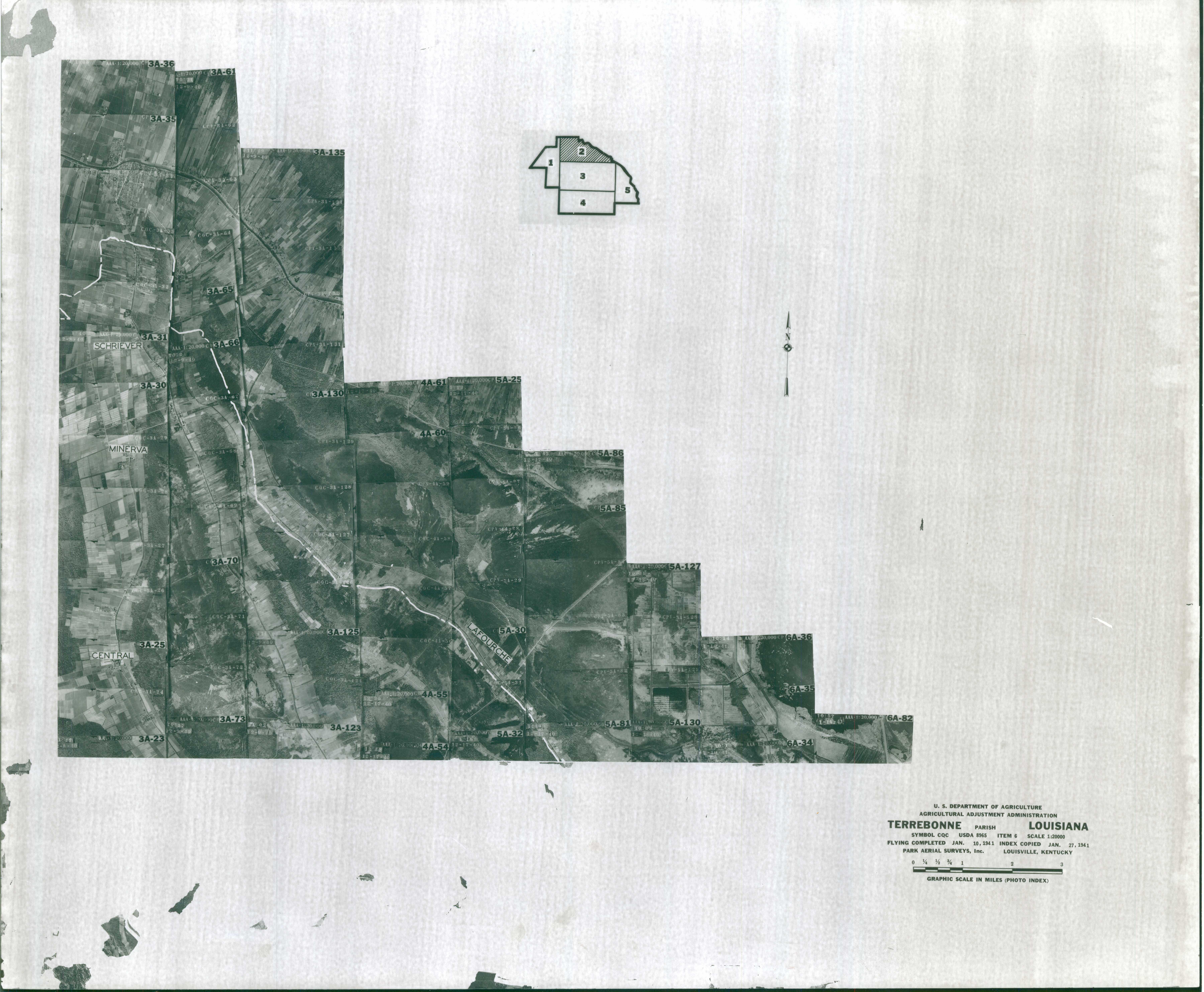 Index to Aerial Photography of Terrebonne Parish, Louisiana 2