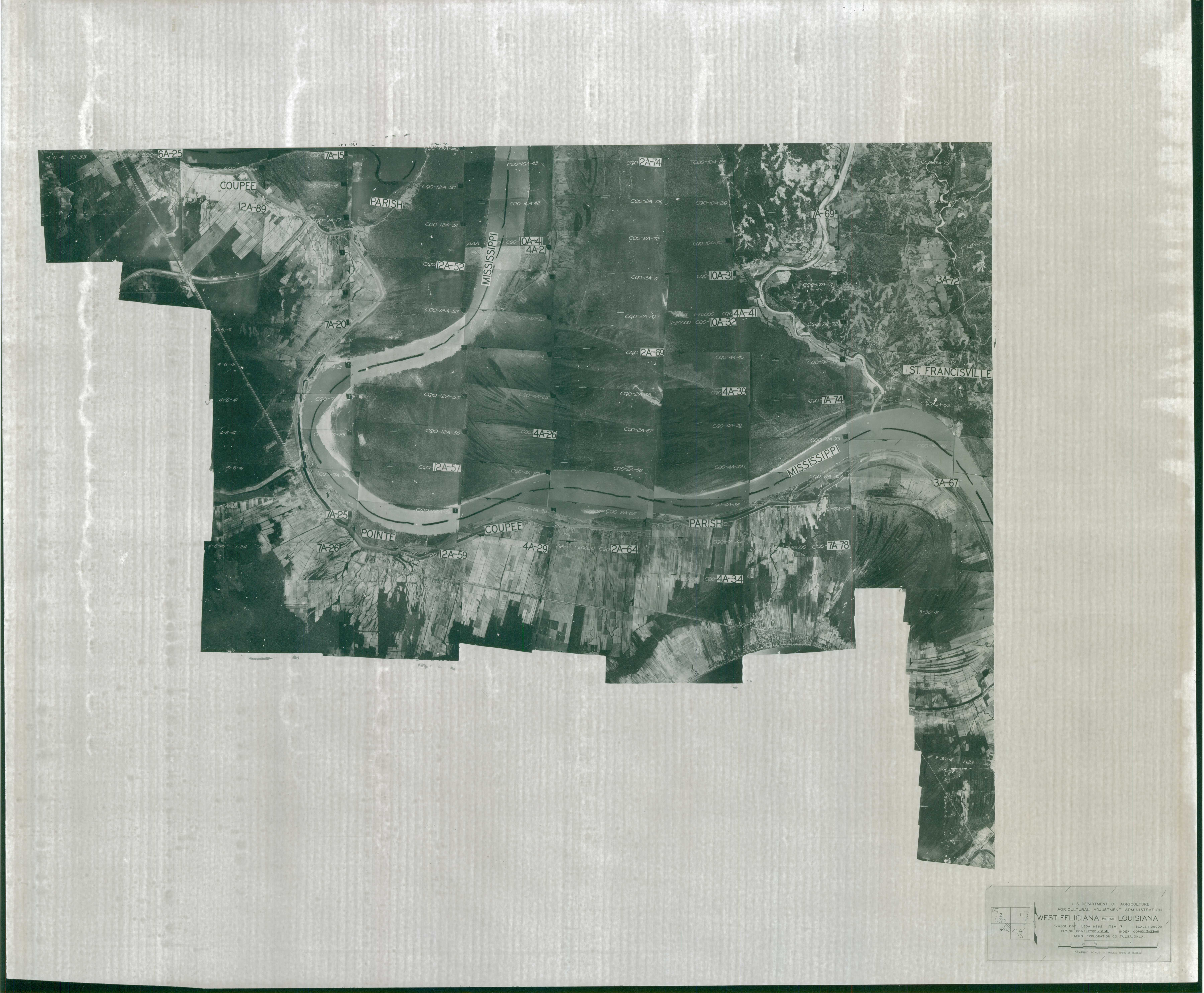 Index to Aerial Photography of West Feliciana Parish, Louisiana 3