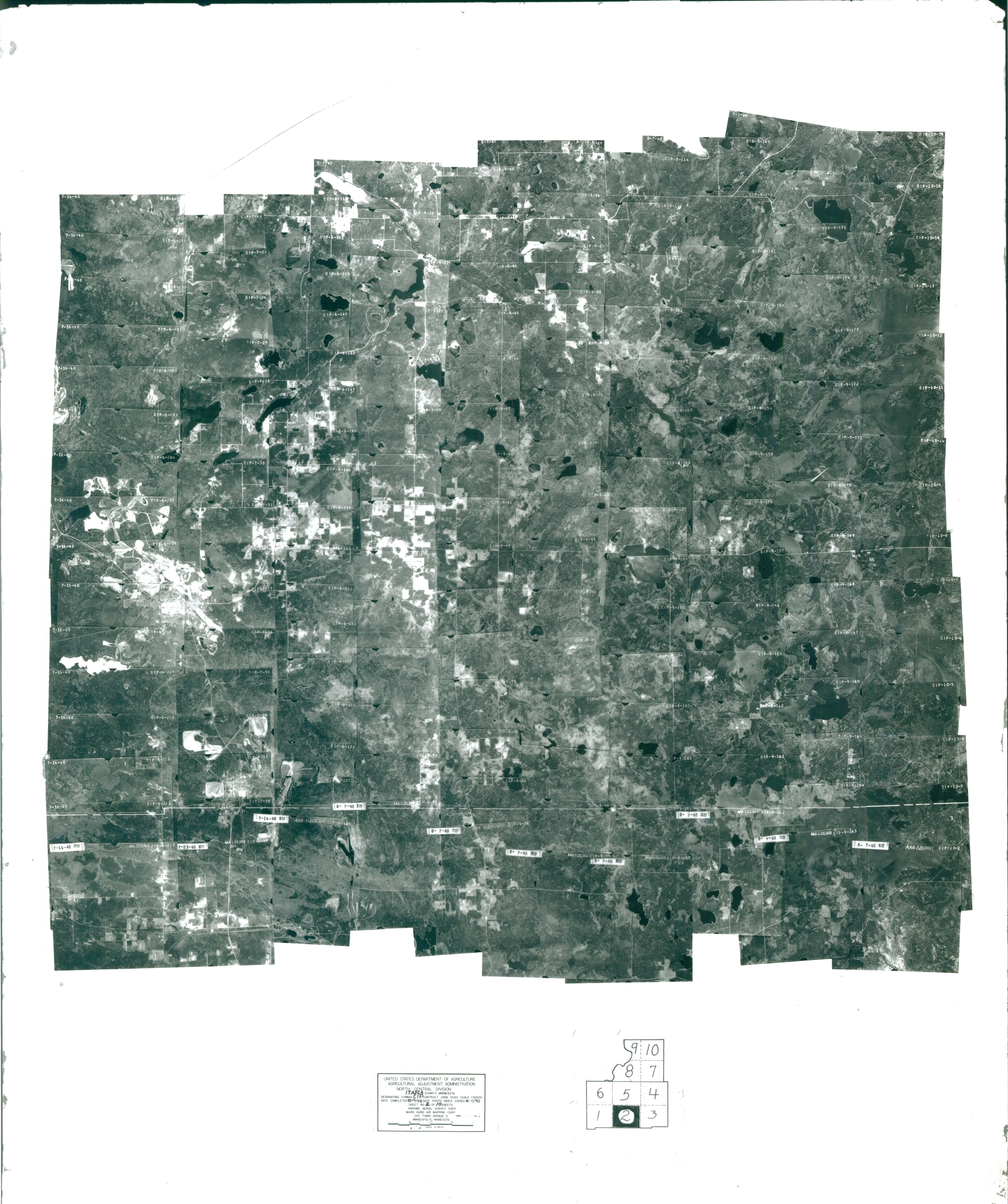 Index to Aerial Photography of Itasca County, Minnesota 2