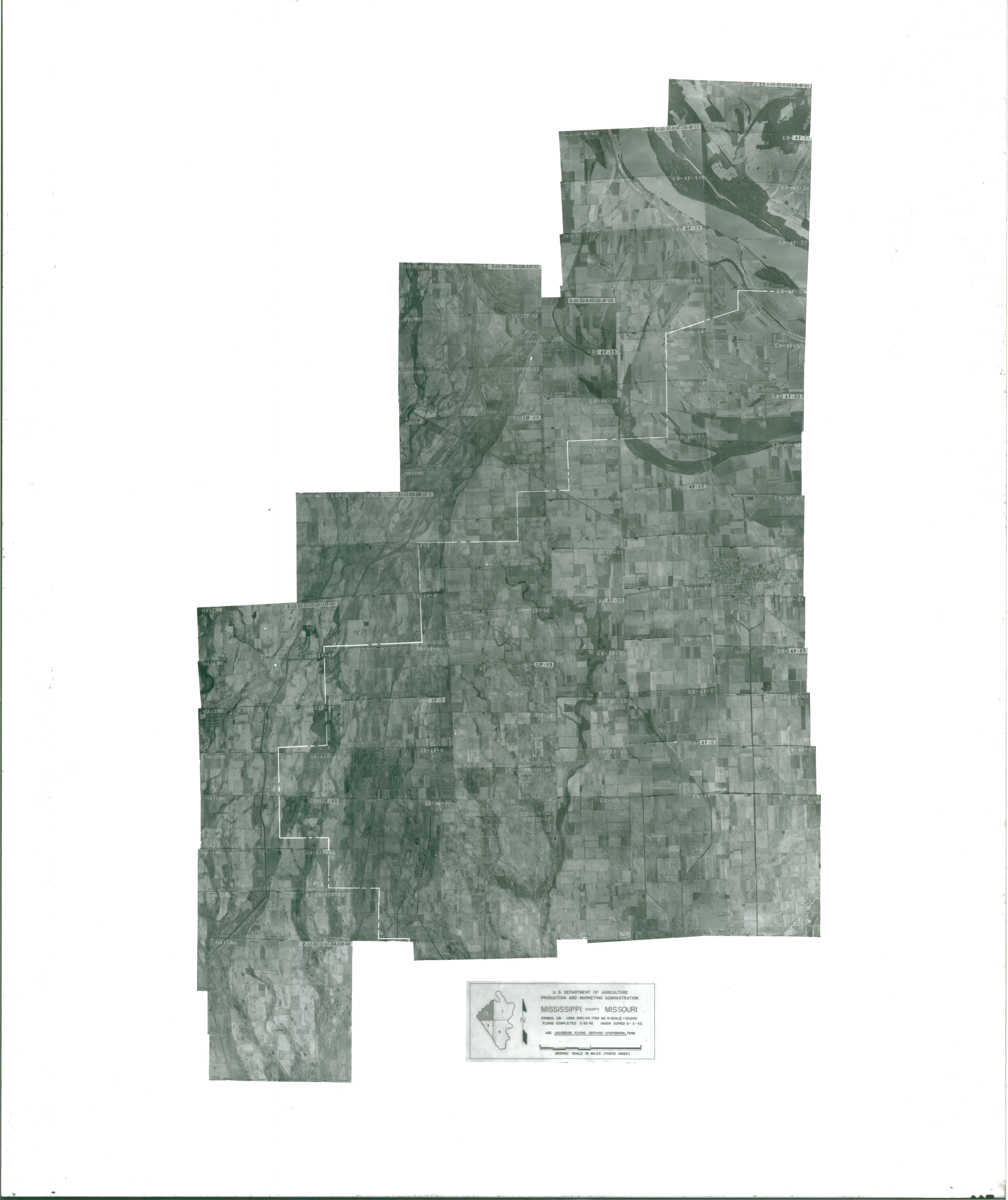 Index to Aerial Photography of Mississippi County, Missouri 2