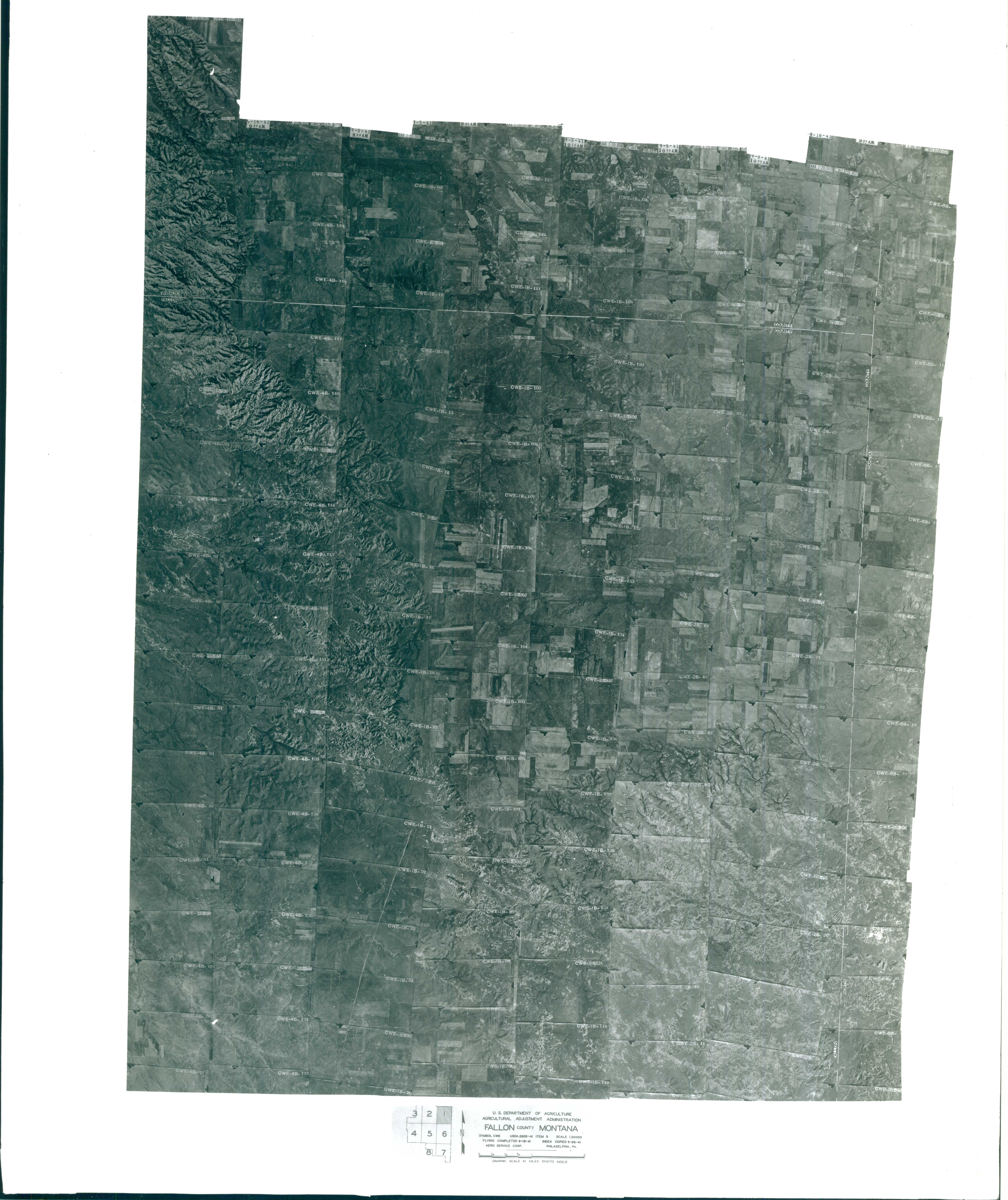 Index to Aerial Photography of Fallon County, Montana 1