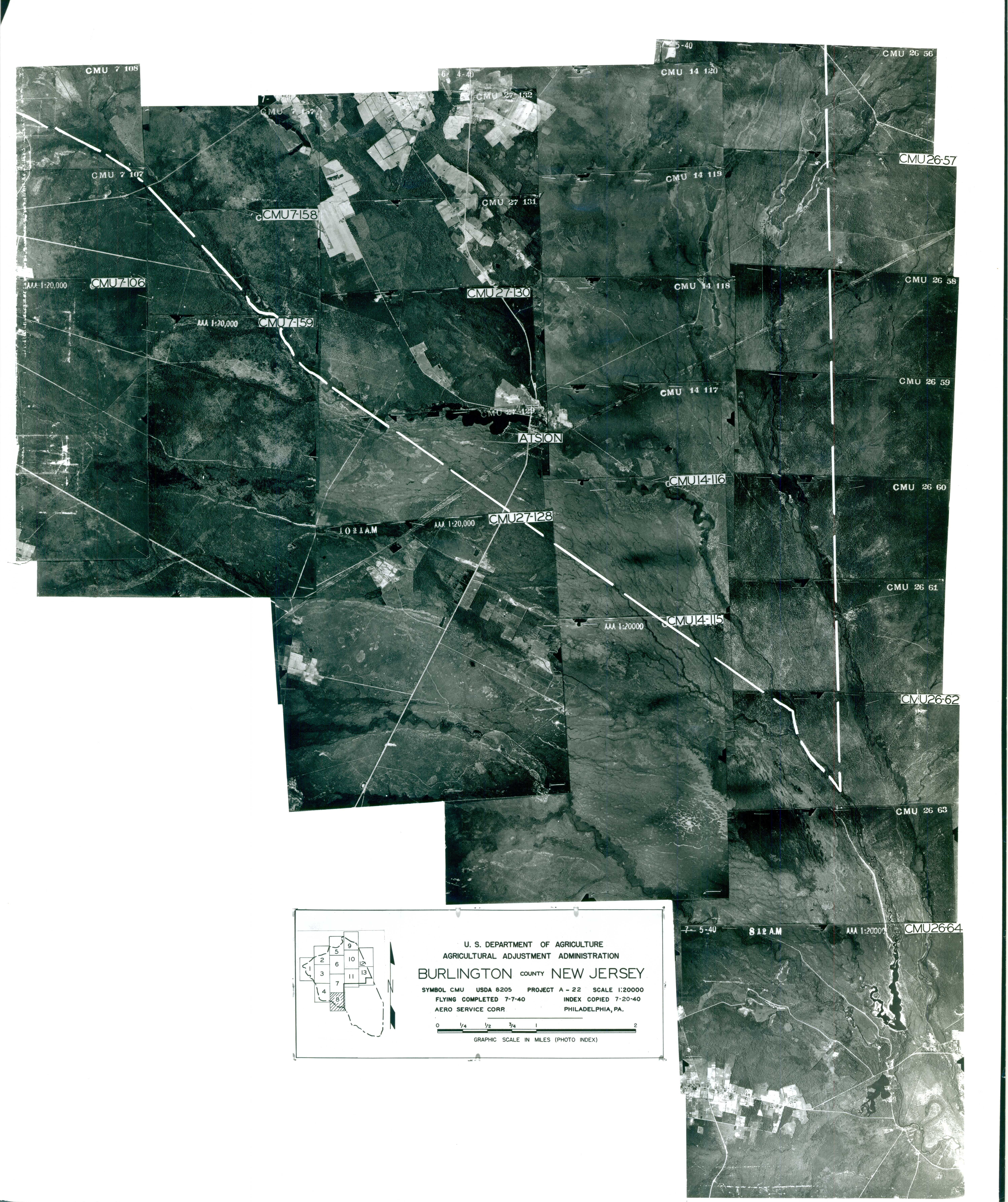 Index to Aerial Photography of Burlington County, New Jersey 8