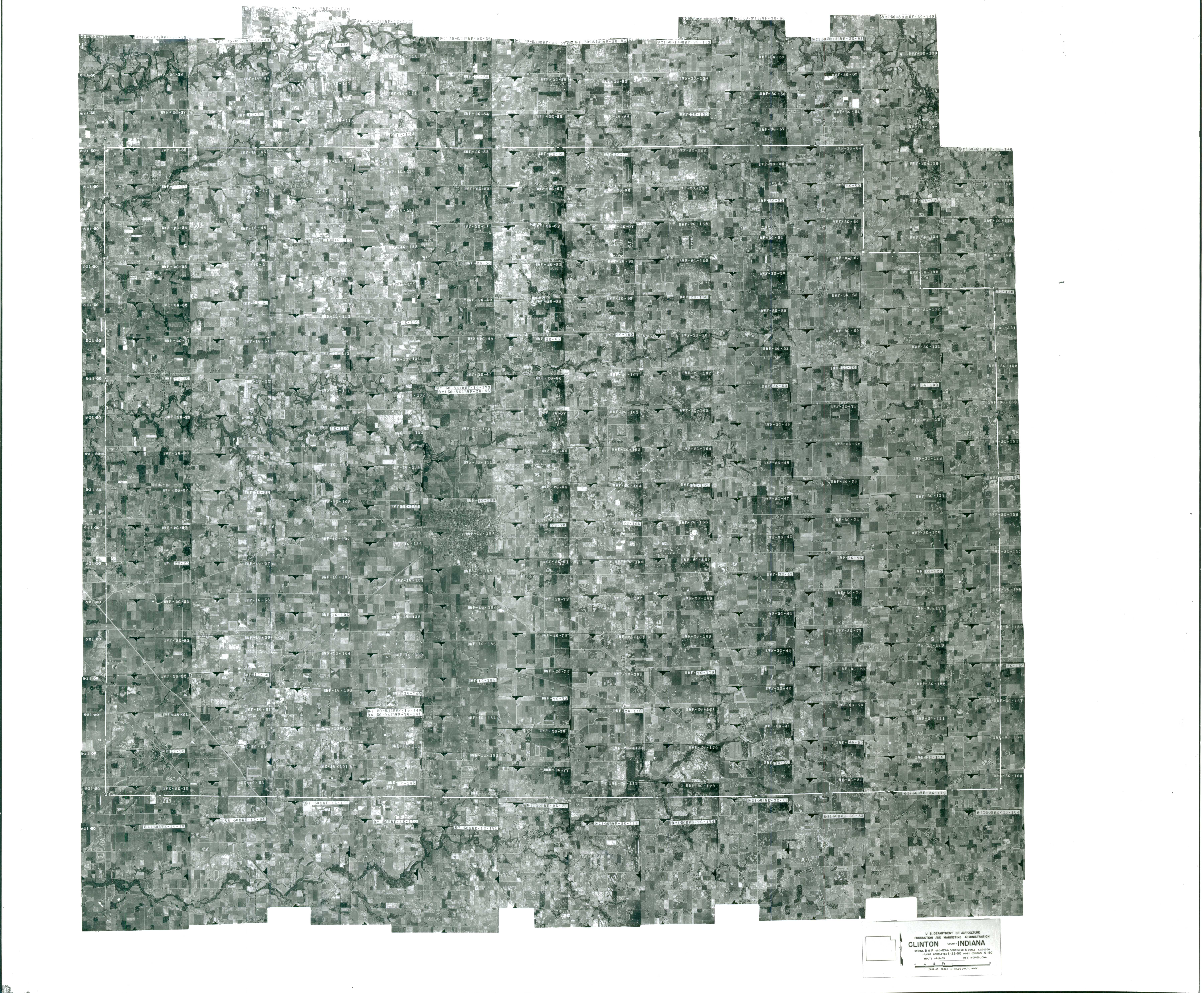 Index to Aerial Photography of Clinton County, Indiana 1