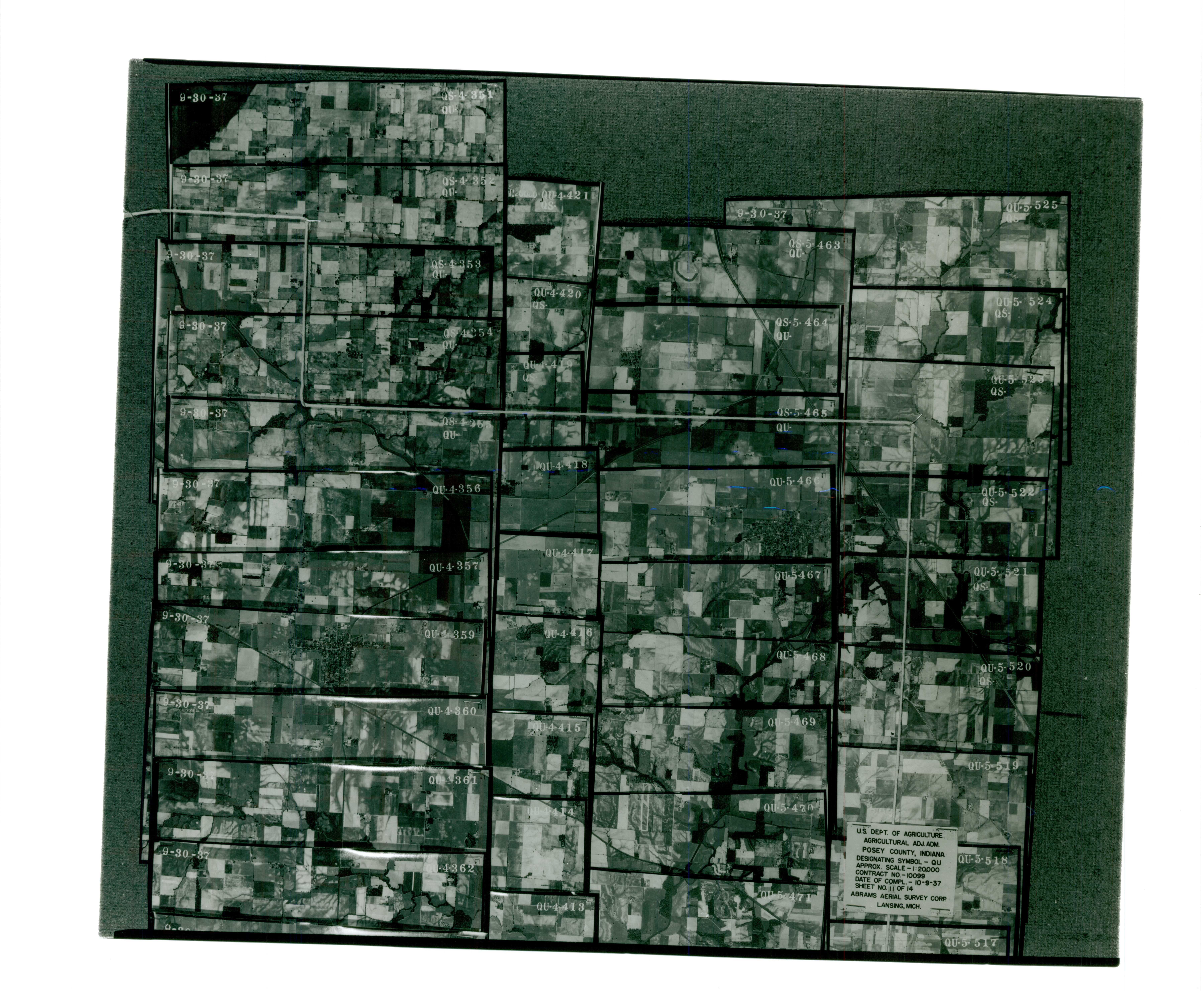 Index to Aerial Photography of Posey County, Indiana 11