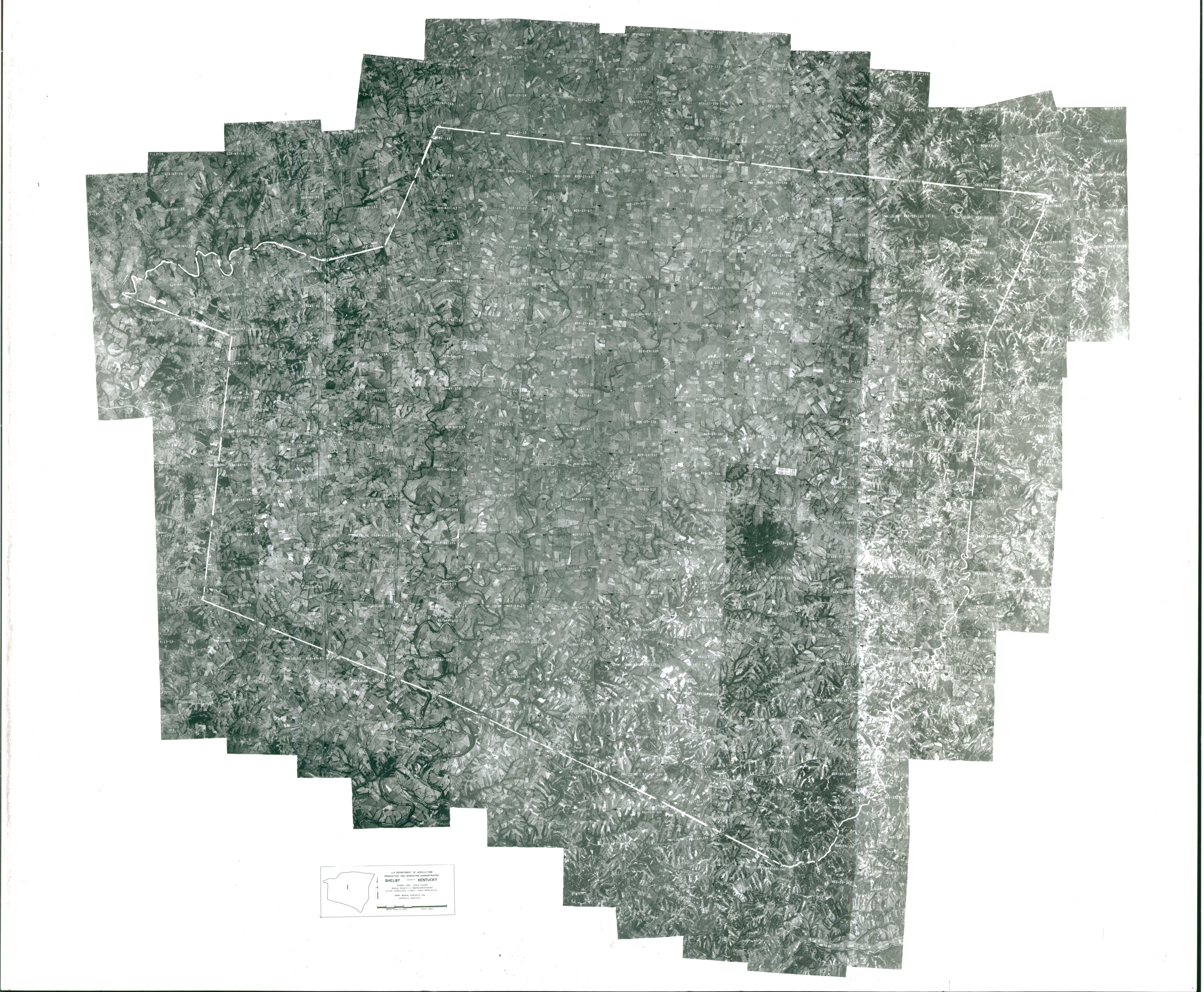 Index to Aerial Photography of Shelby County, Kentucky 1