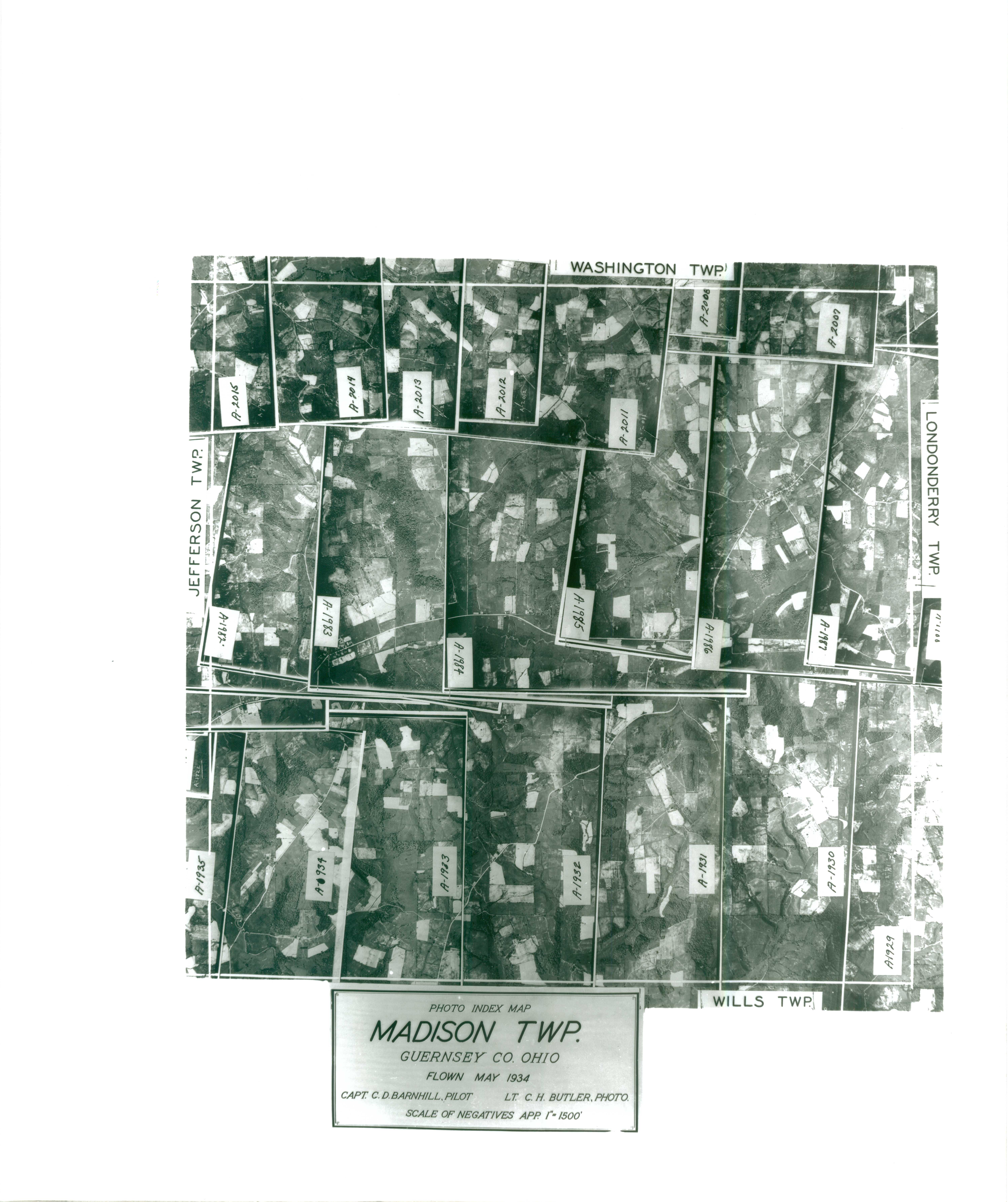 Index to Aerial Photography of Guernsey County, Ohio 8