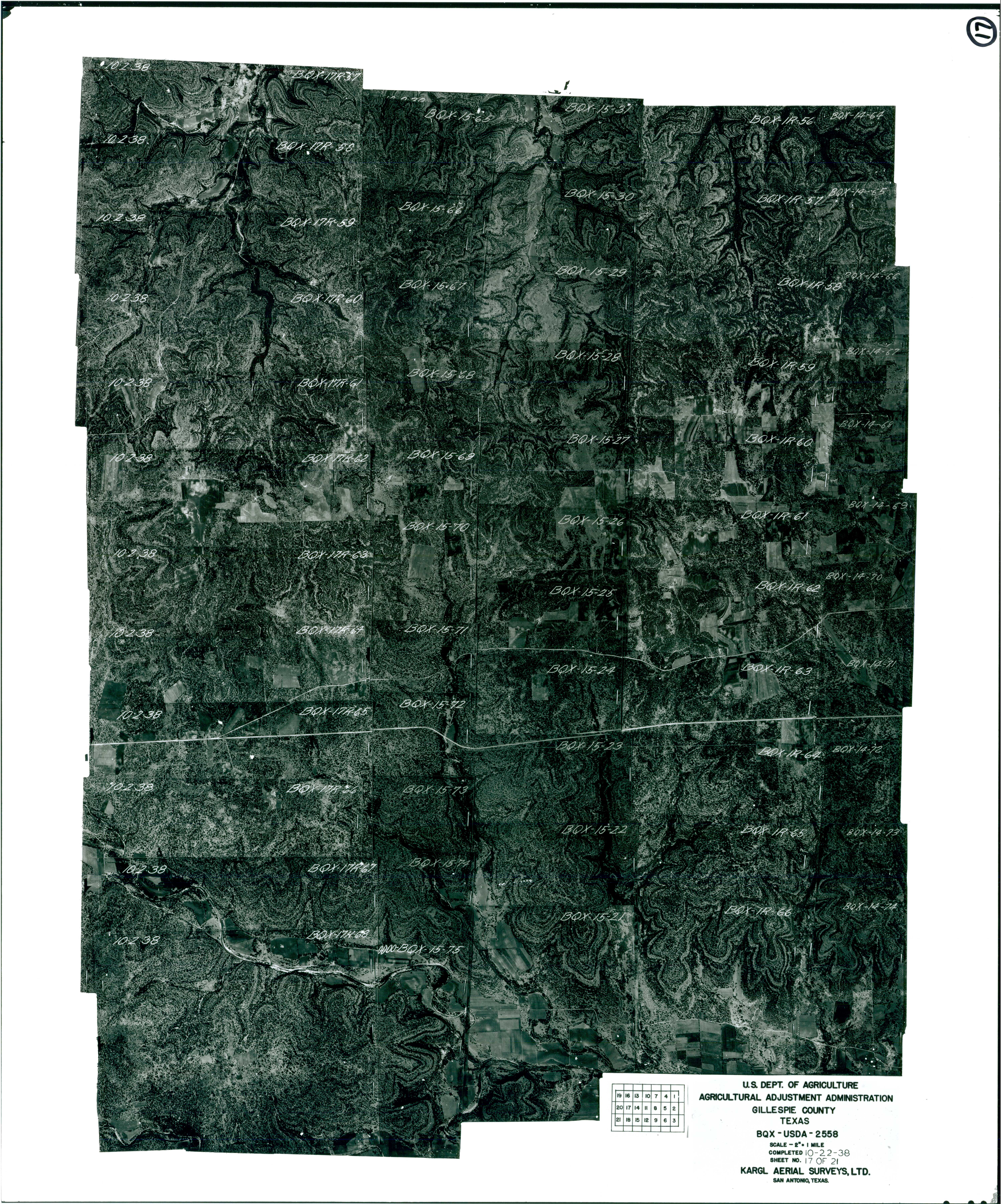 Index to Aerial Photography of Gillespie County, Texas 17