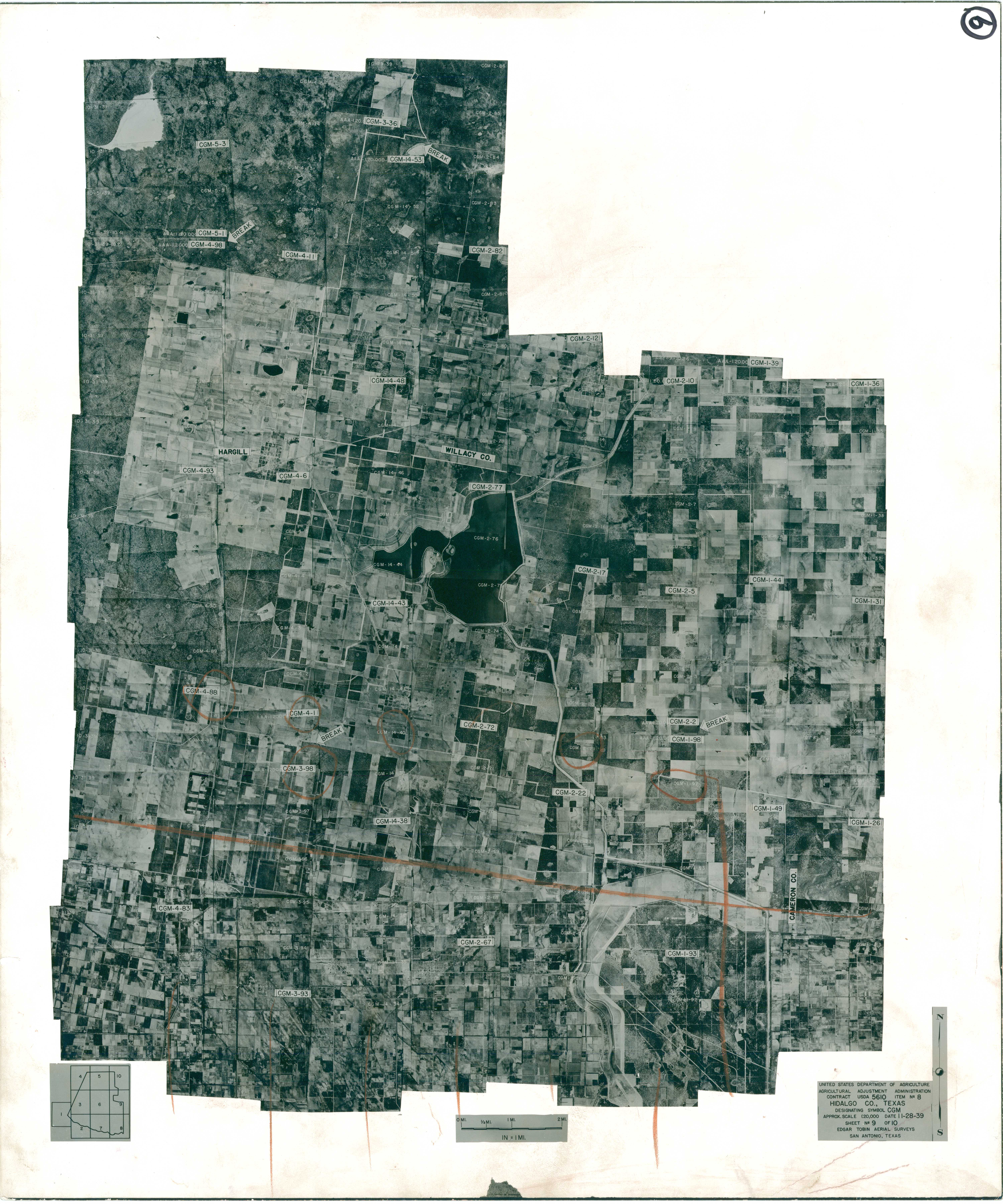 Index to Aerial Photography of Hidalgo County, Texas 9