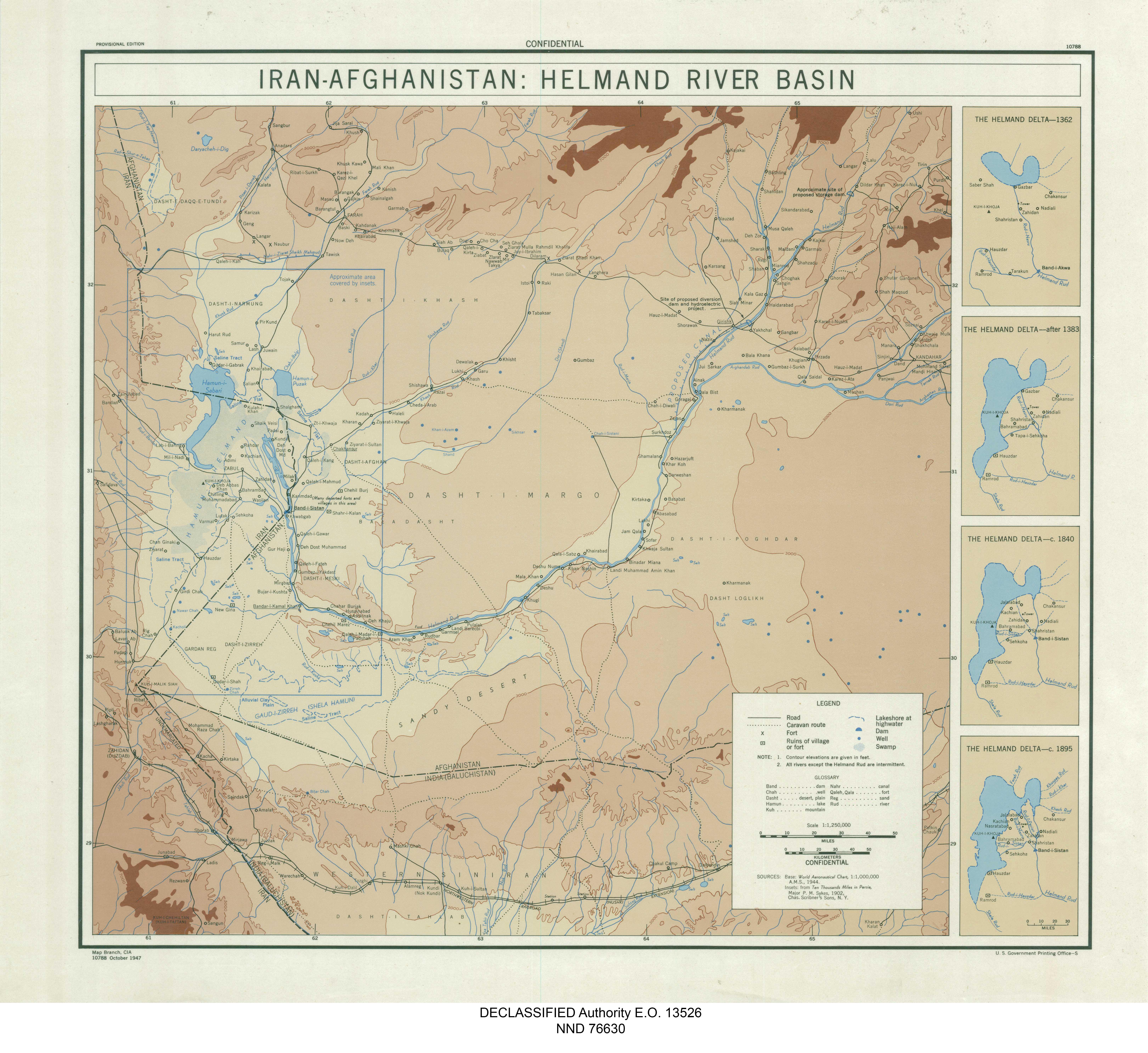 Iran-Afghanistan Helmand River Basin
