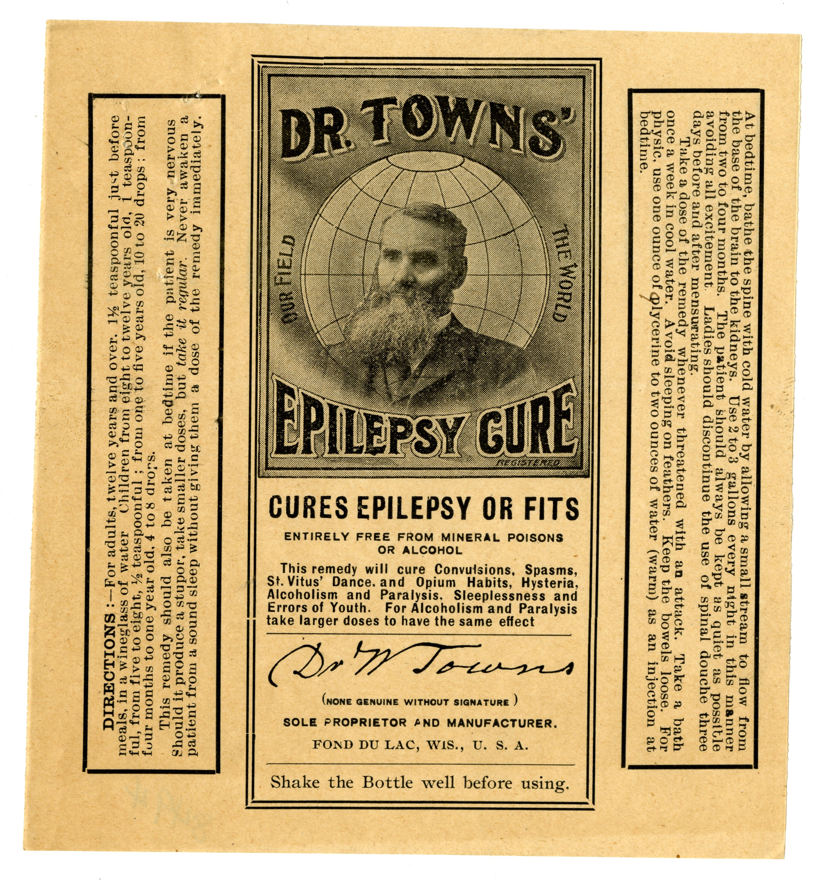 8494 - Dr. Towns' Epilepsy Cure - Dr. W. Towns