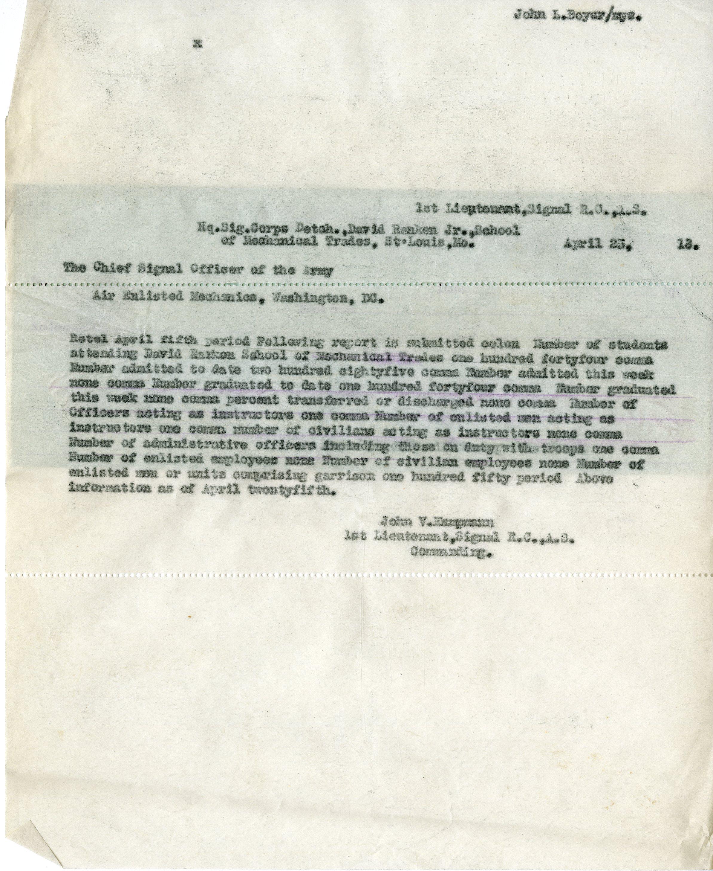 Telegrams Sent [2 of 2]