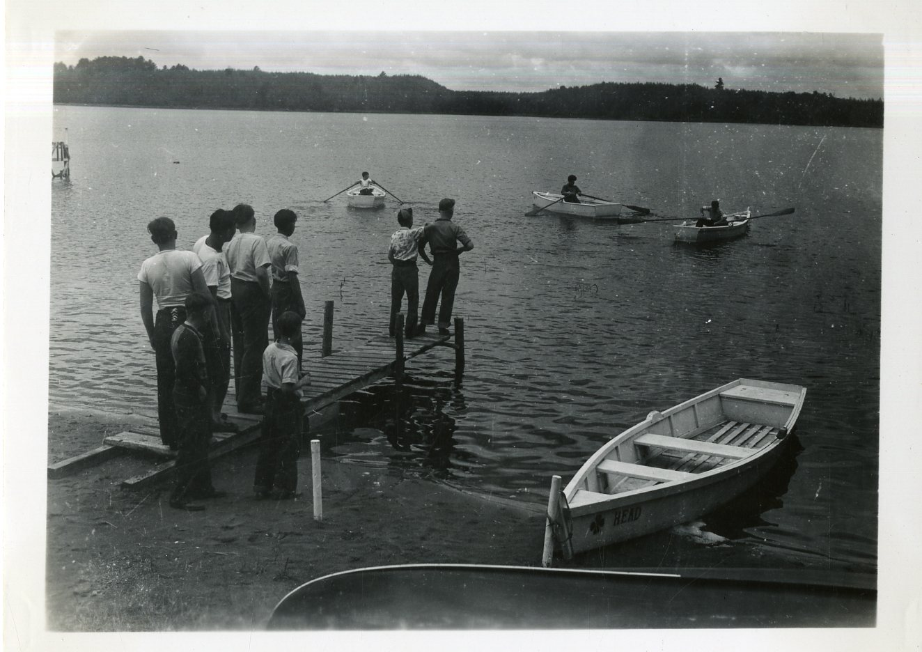 Boys Rowing Boats