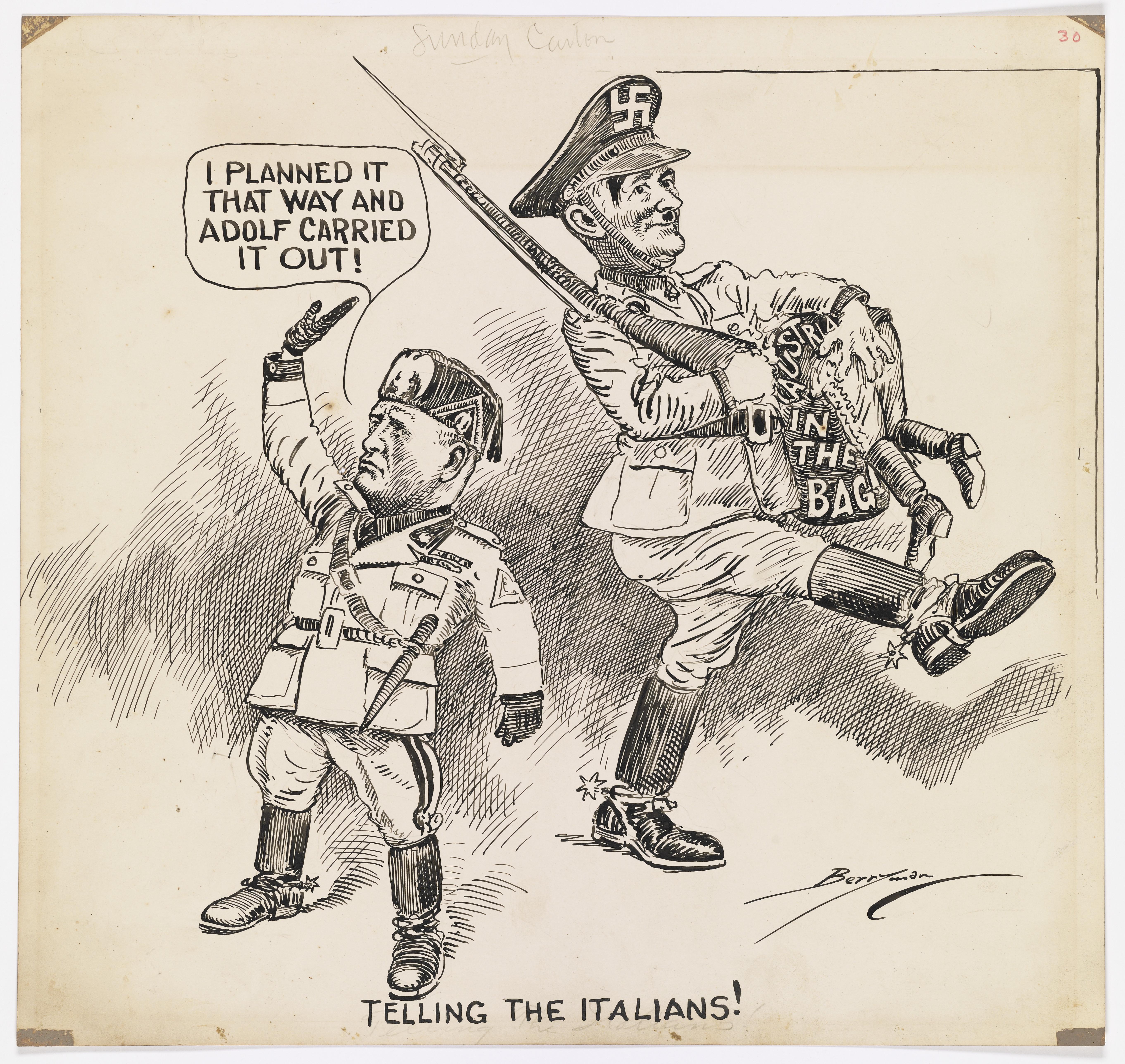 Telling the Italians!