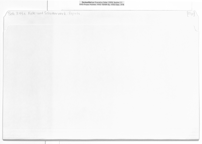 Sch 344a Kalk-und Schotterwerk: Reports
