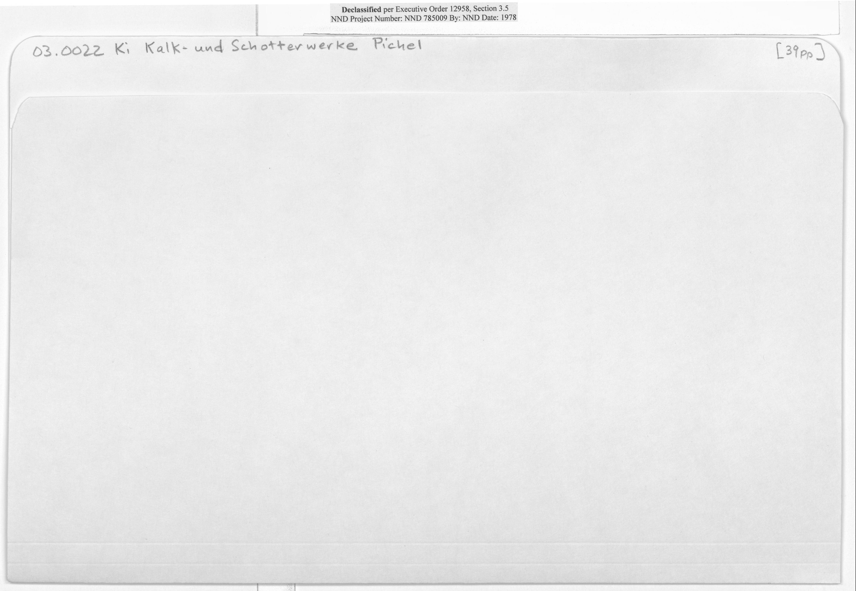 O3.0022 Ki Kalk-Und Schotterwerke Pichel