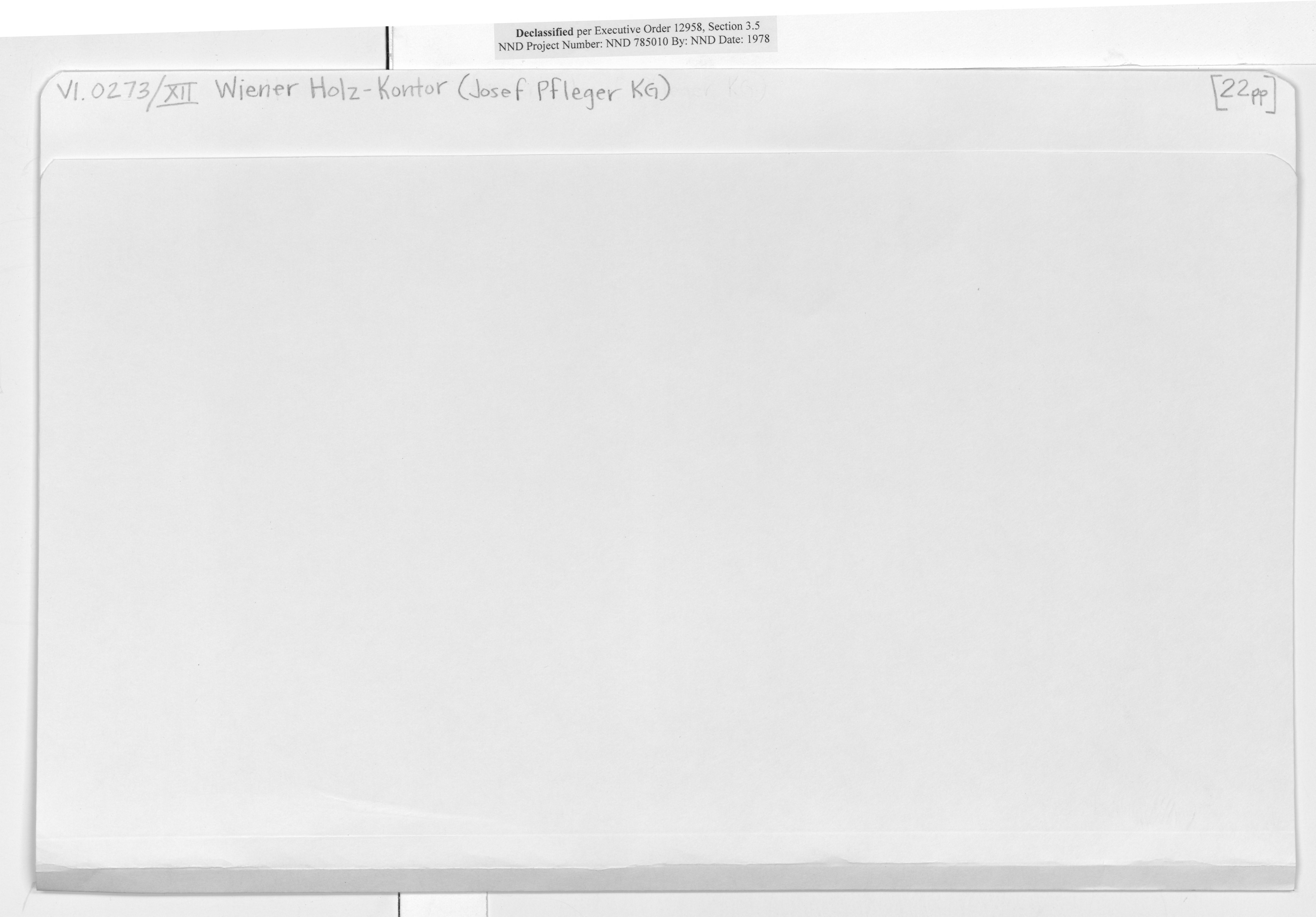 V1.0273/XII Wiener Holz-Kontor (Josef Pfleger KG)