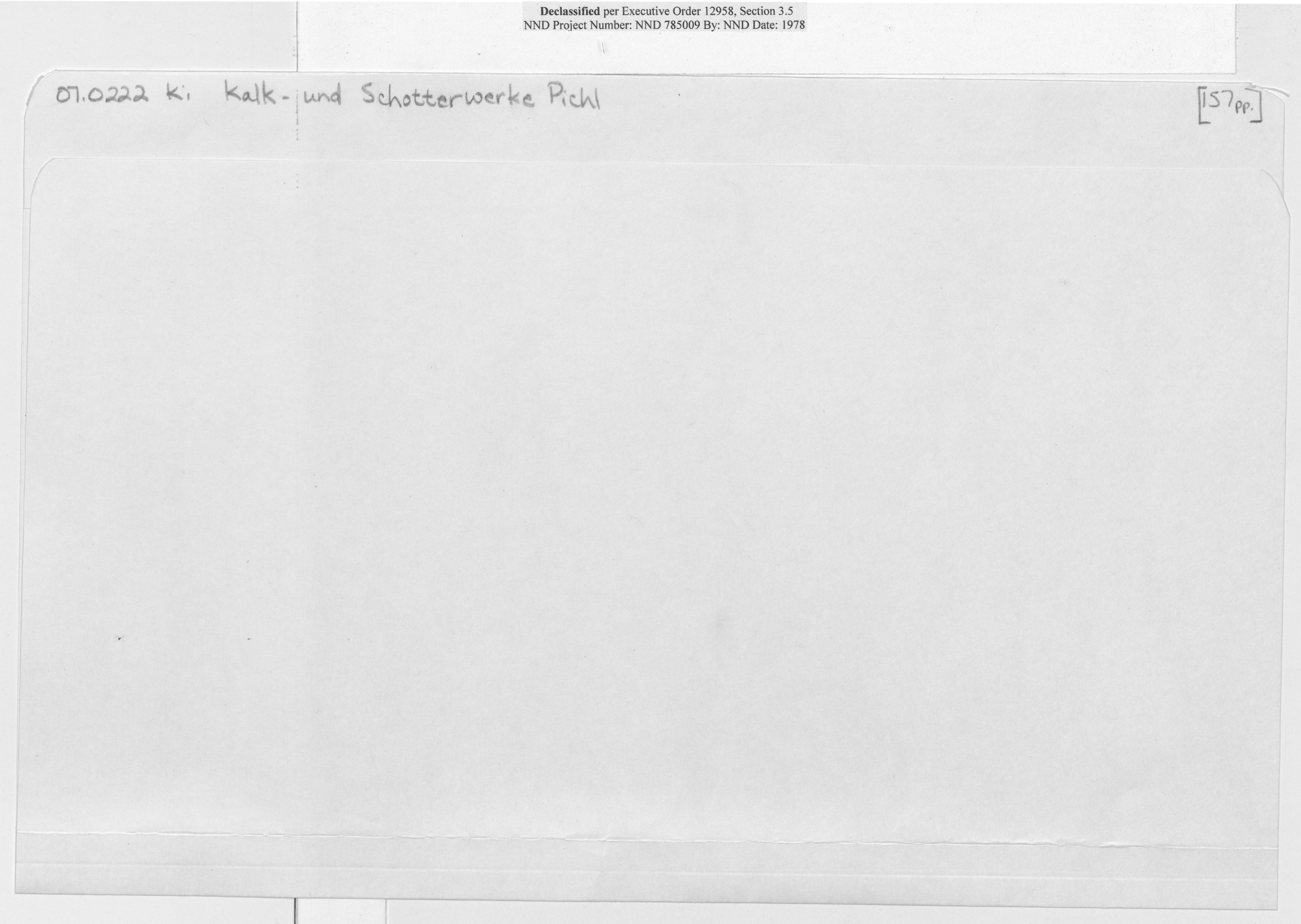 O7 0222 Ki Kalk-Und Schotterwerke Pichl