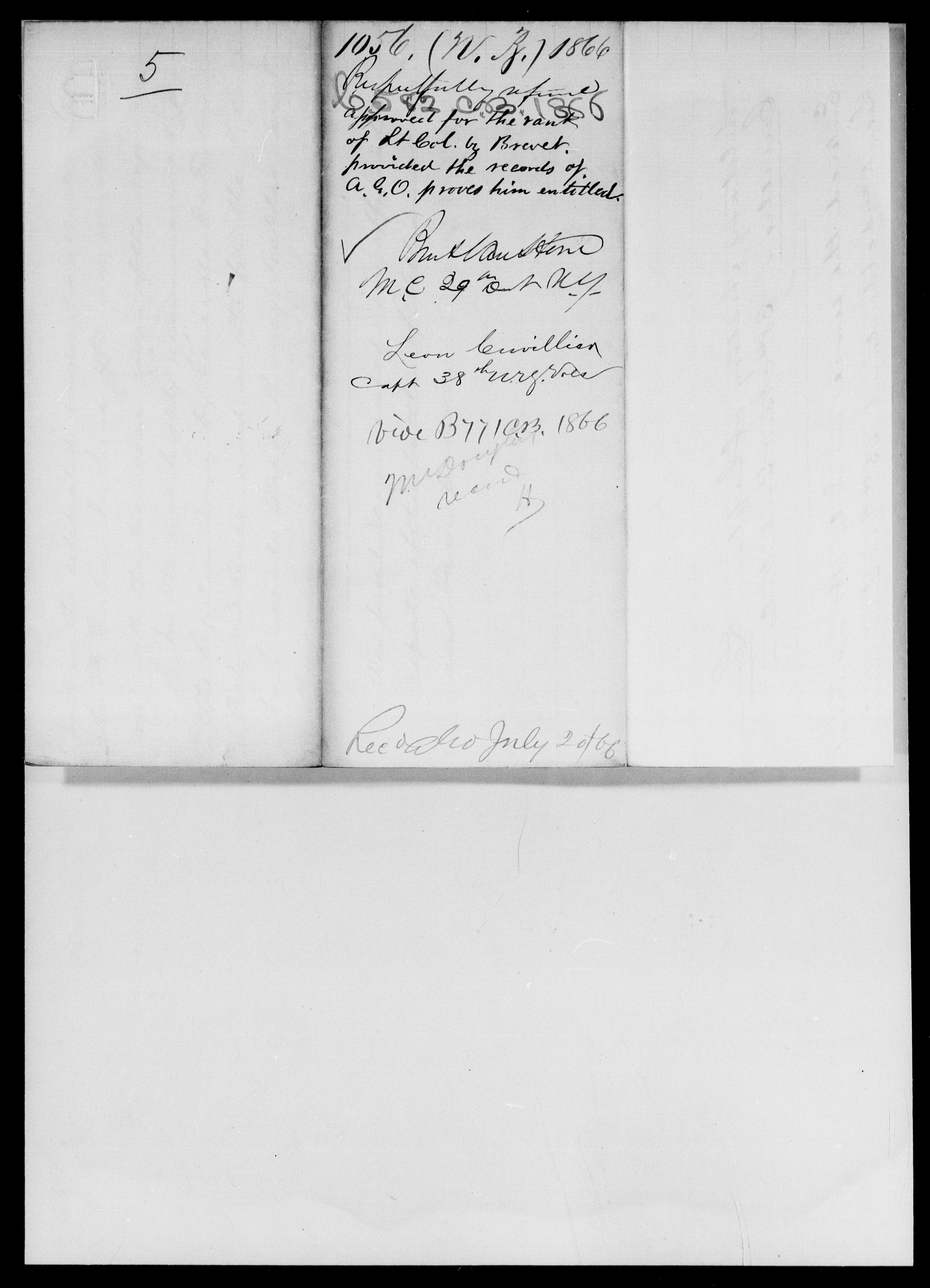 Cuvillier, Leon - State: New York - Year: 1866