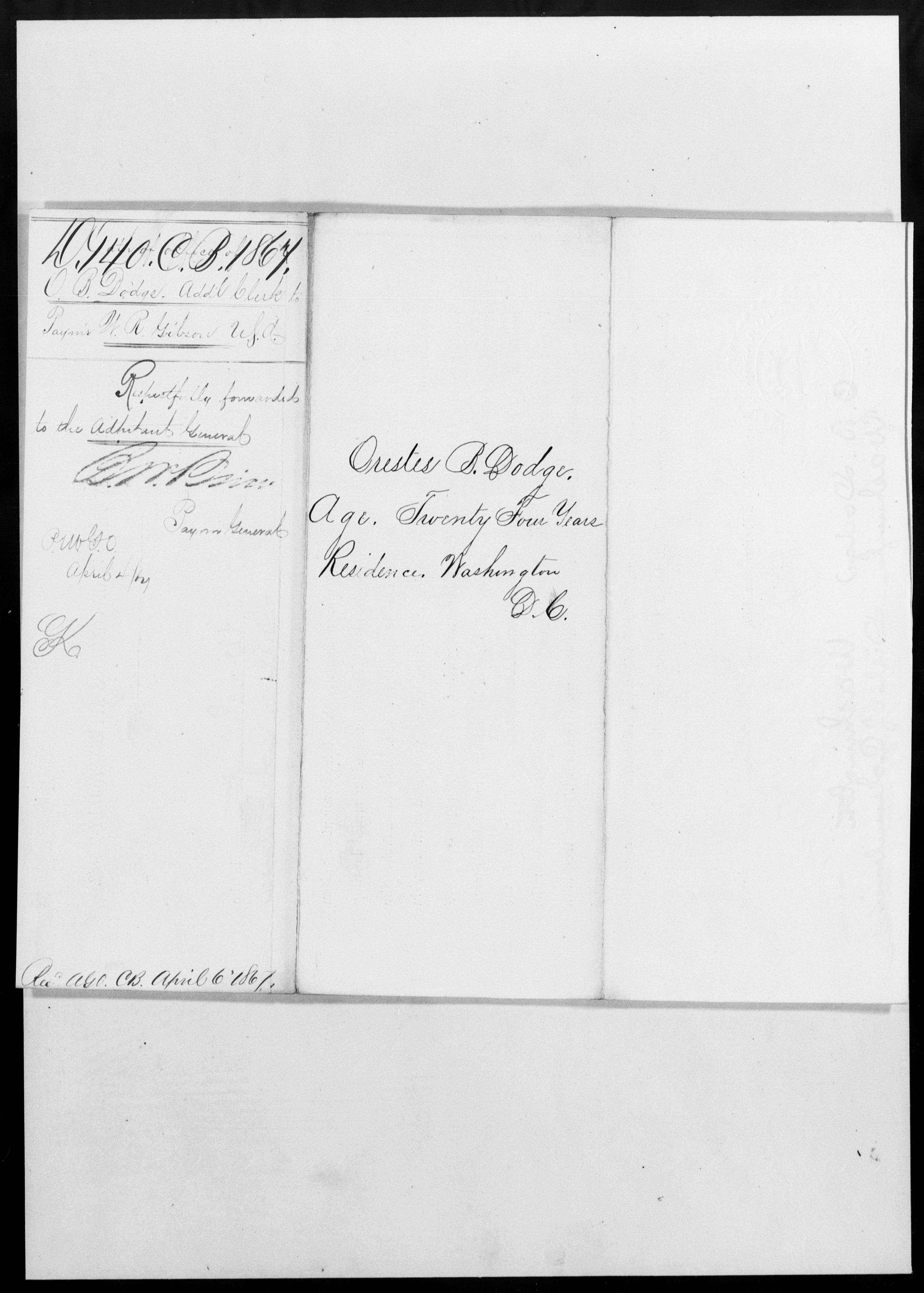 Dodge, Orestes B - State: [Blank] - Year: 1867