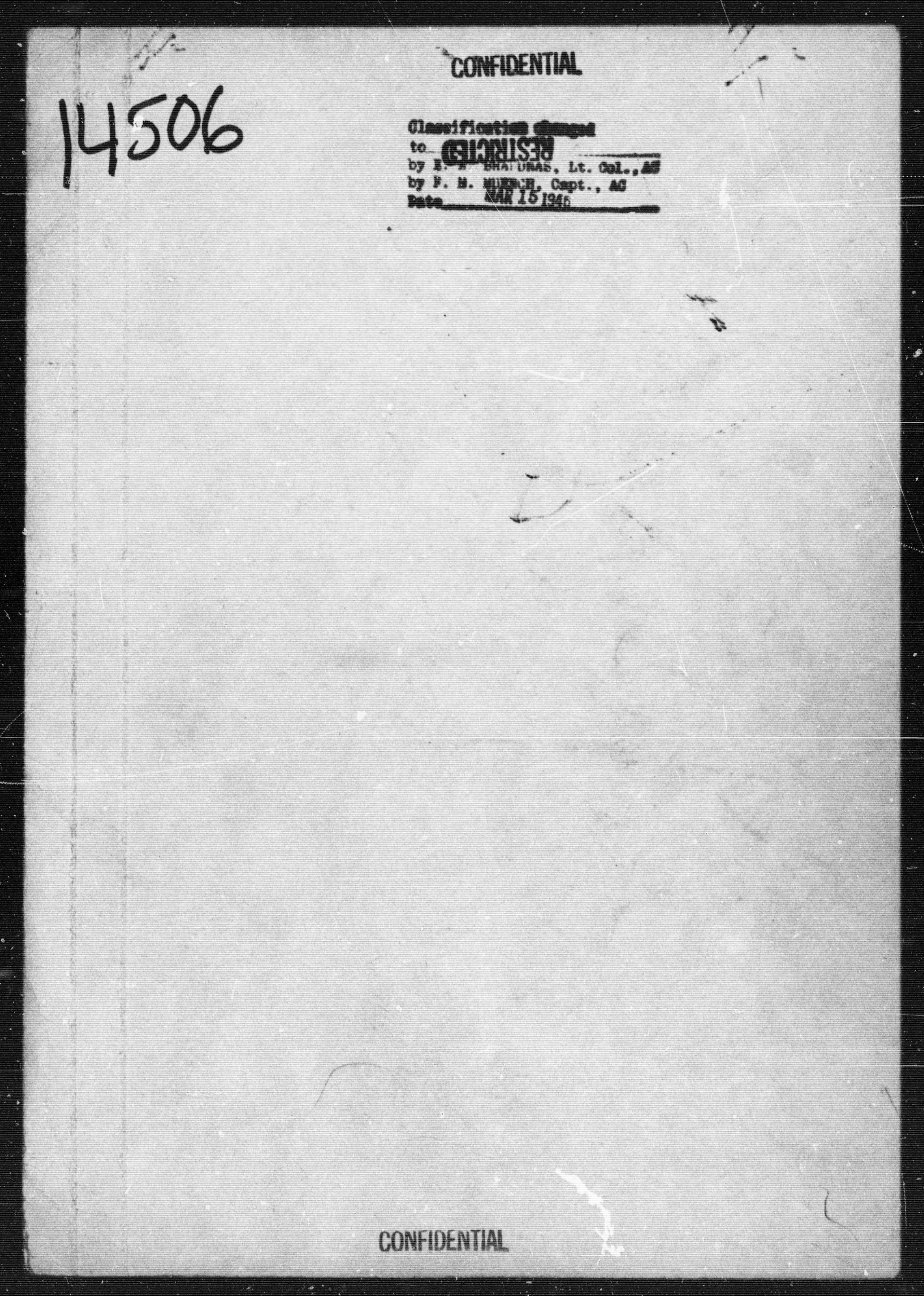 Missing Air Crew Report number 14506