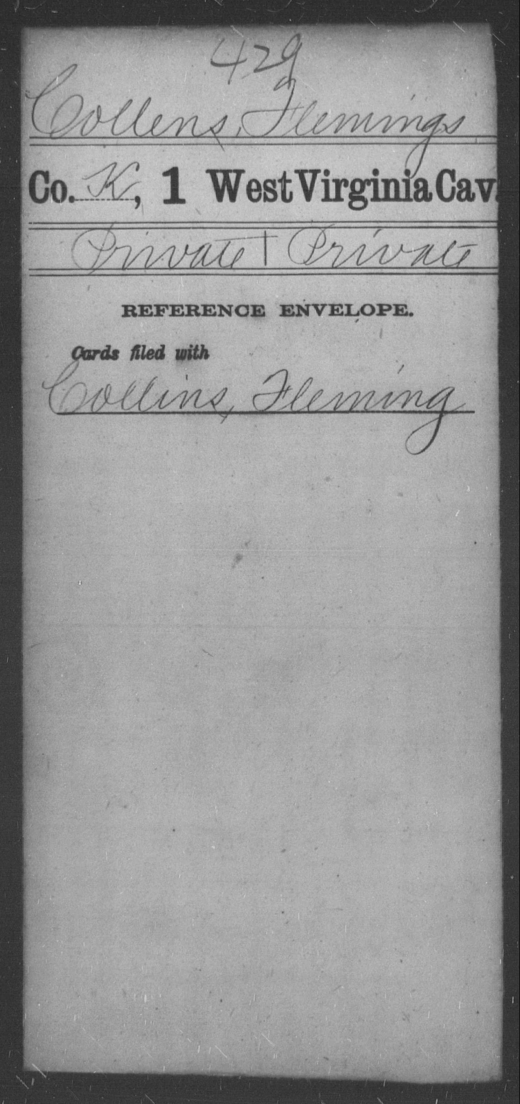 Collens, Flemings - Age [Blank], Year: [BLANK] - First Cavalry - West Virginia