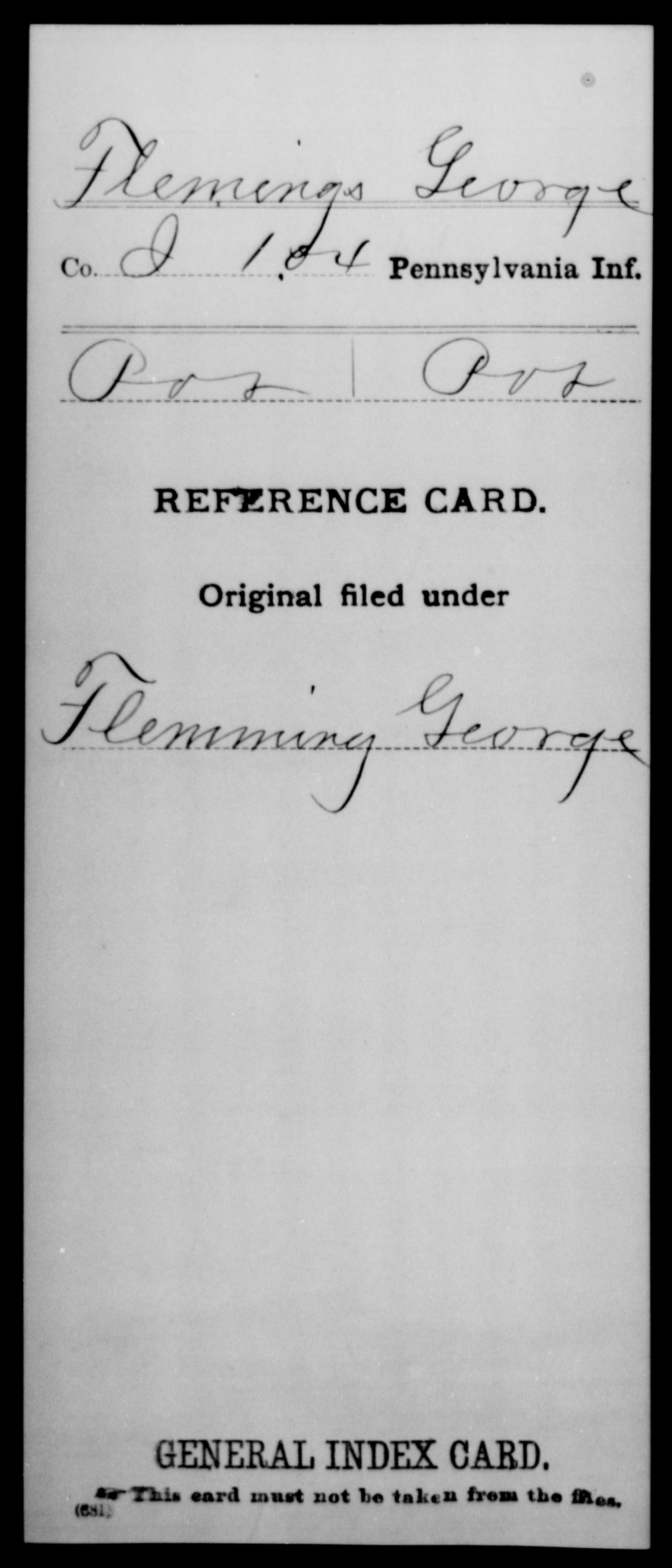 [Pennsylvania] Flemings, George - 104th Infantry, Company J