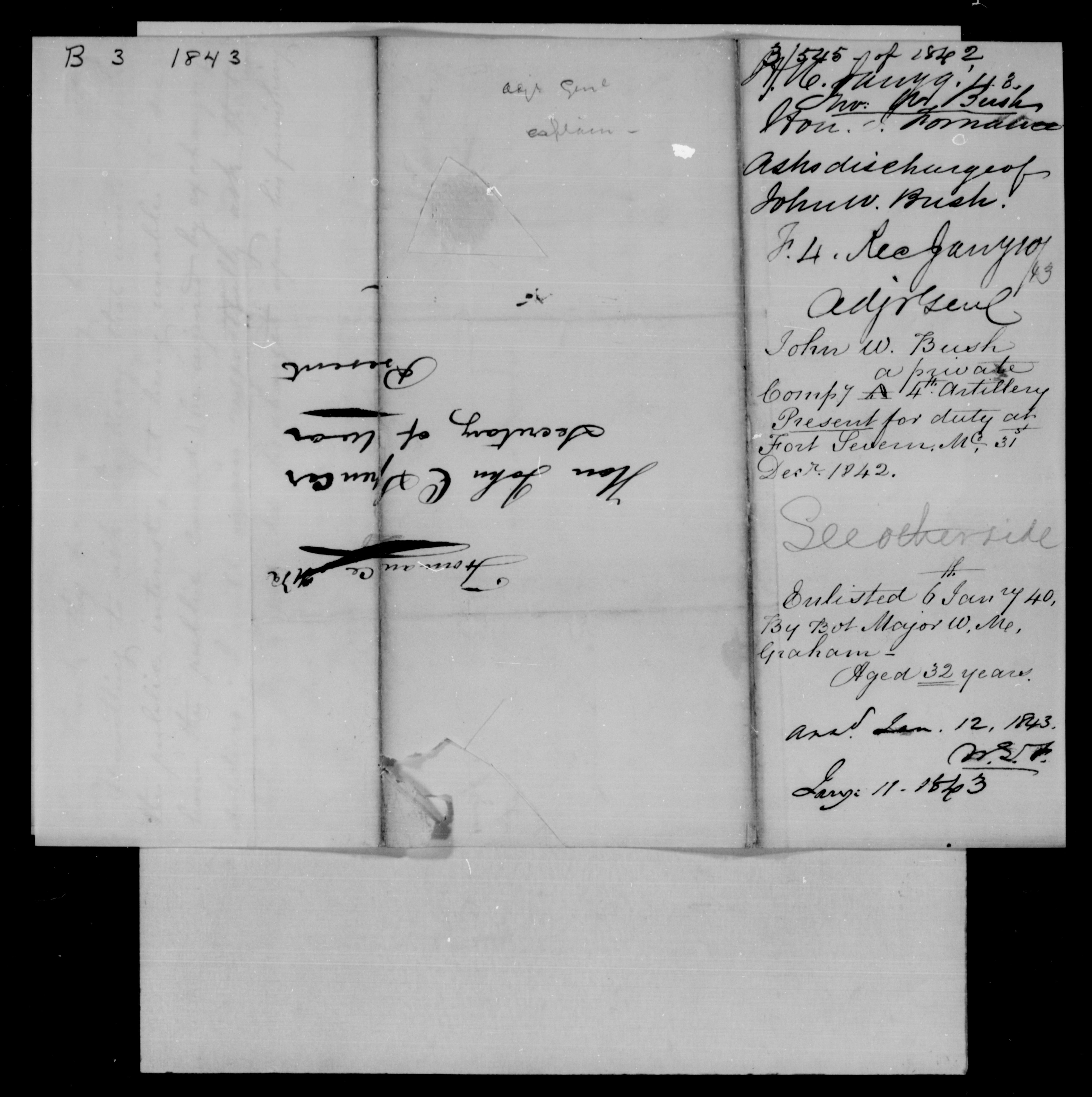 Bush, John W - 1843 - File No. B3