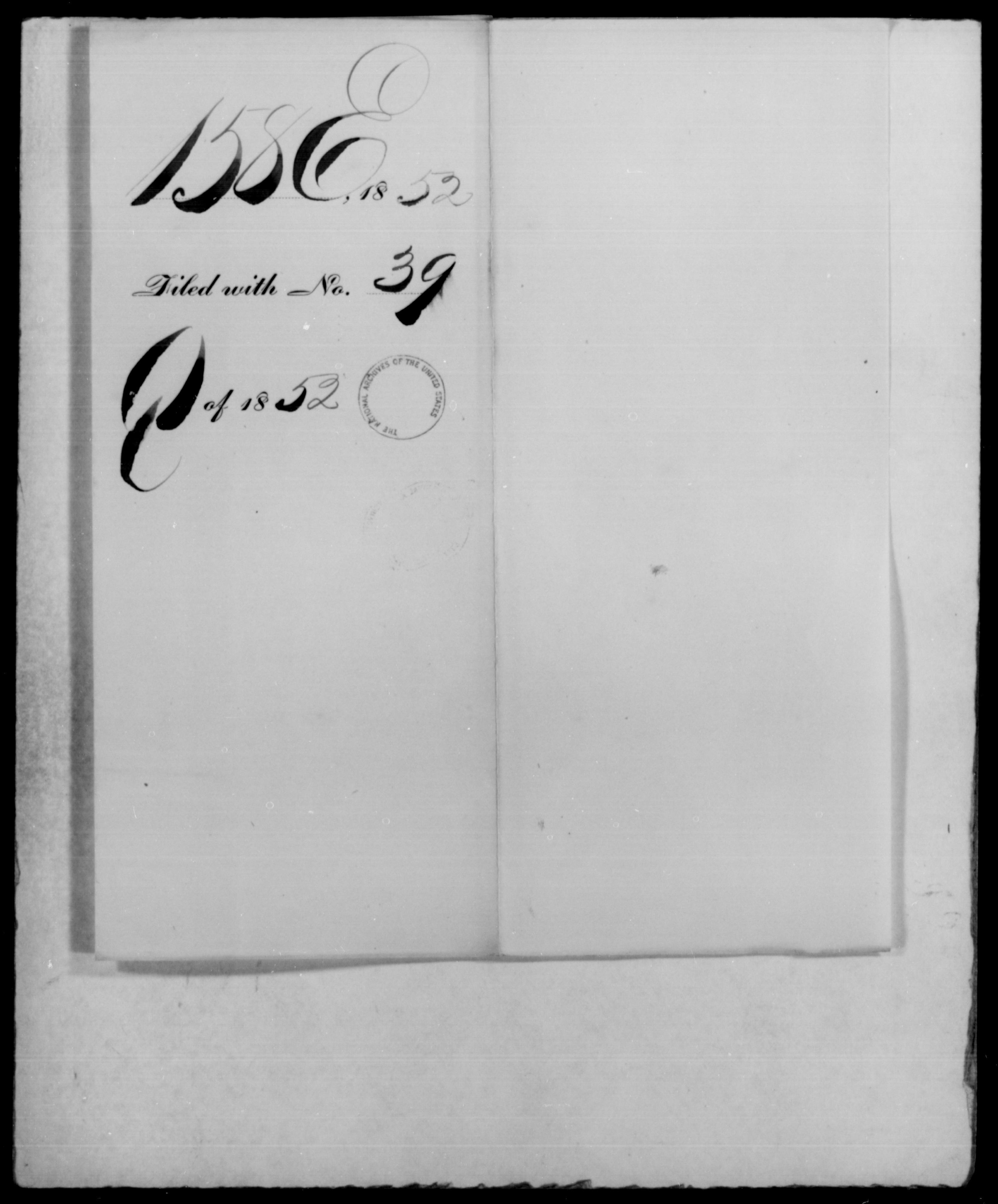 1852 - File No. E158