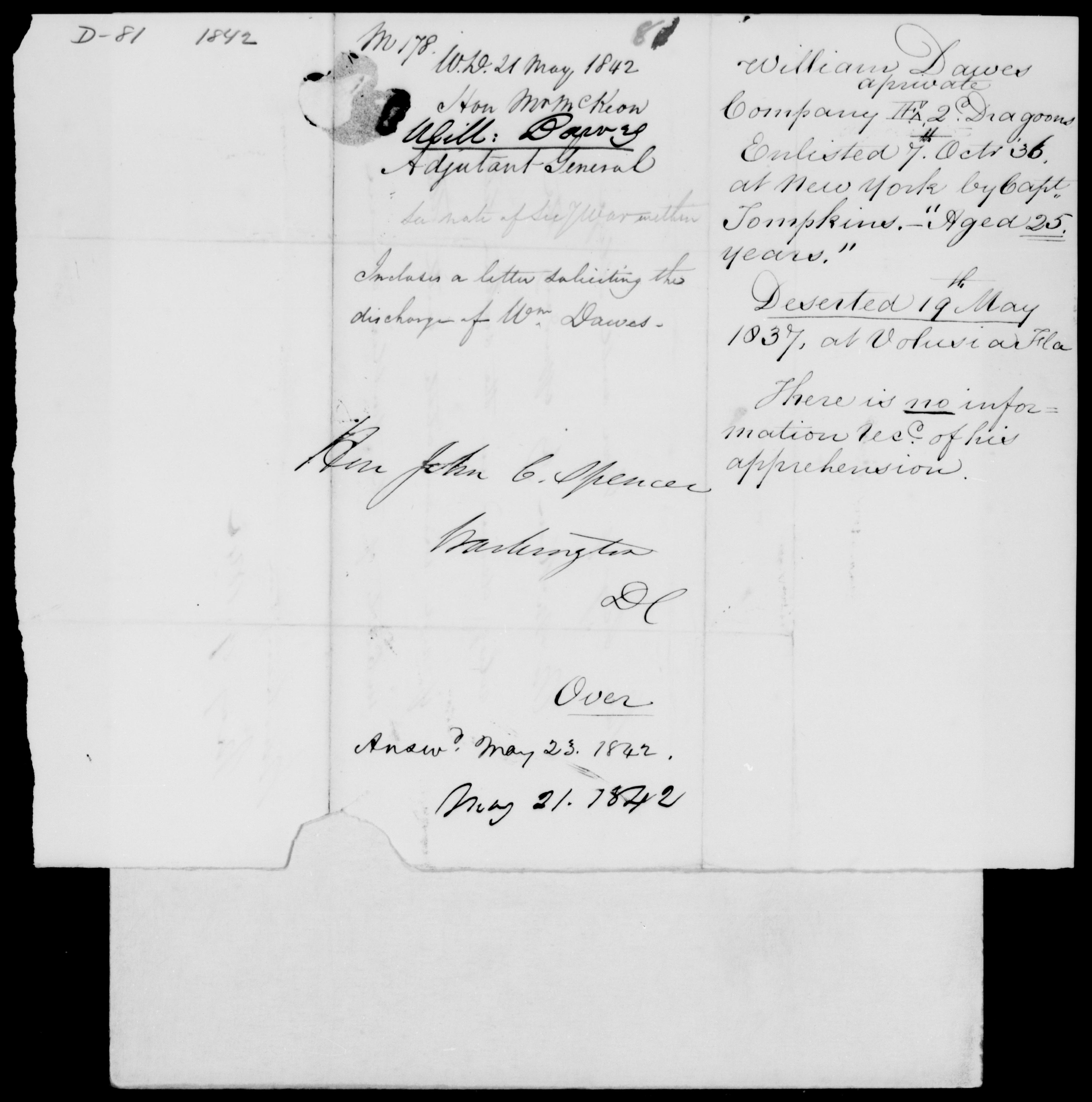 Danes, Will - 1842 - File No. D81