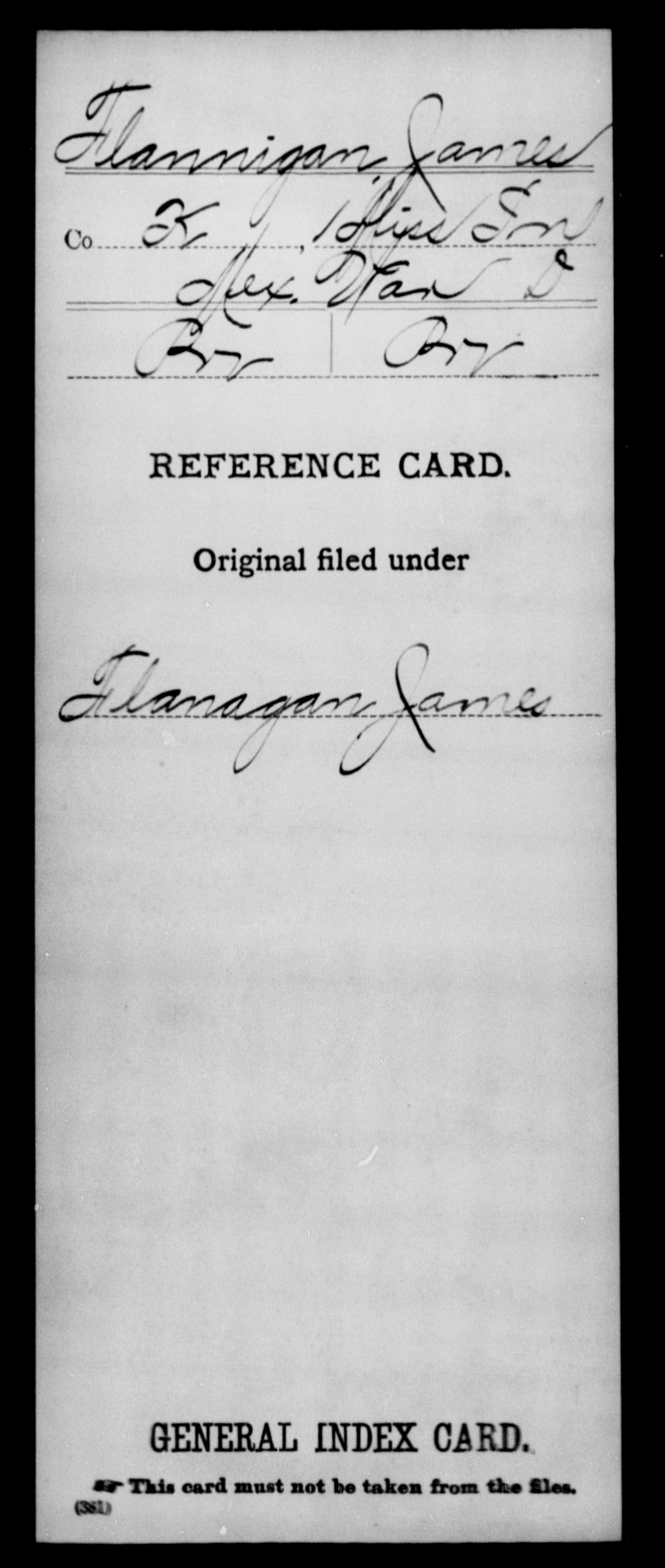 Flannigan, James - State: Mississippi - Regiment: 1 Mississippi Infantry, Company K - Enlistment Rank: Pvt - Discharge Rank: Pvt