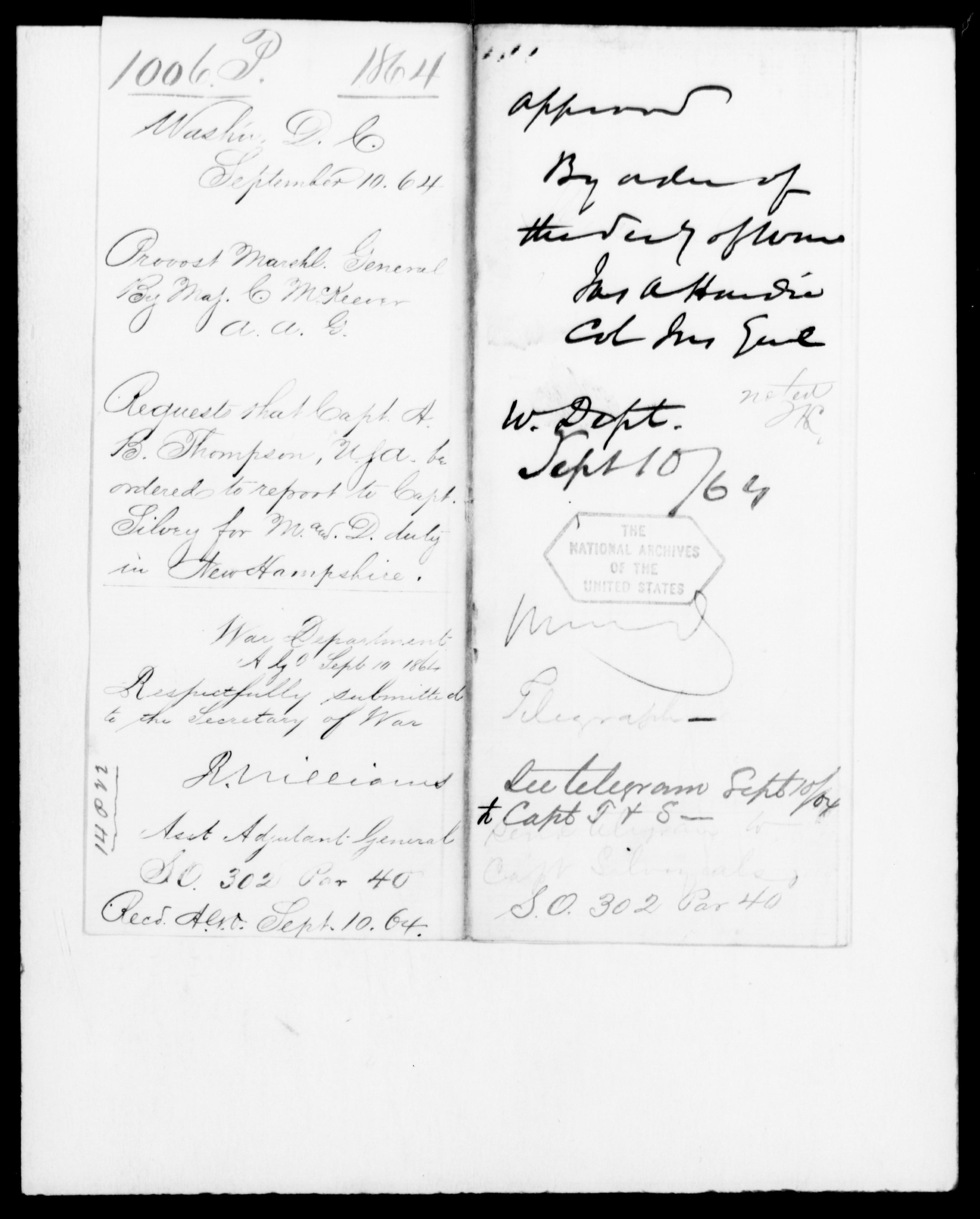 1864 - McKeever, C - File No. P1006