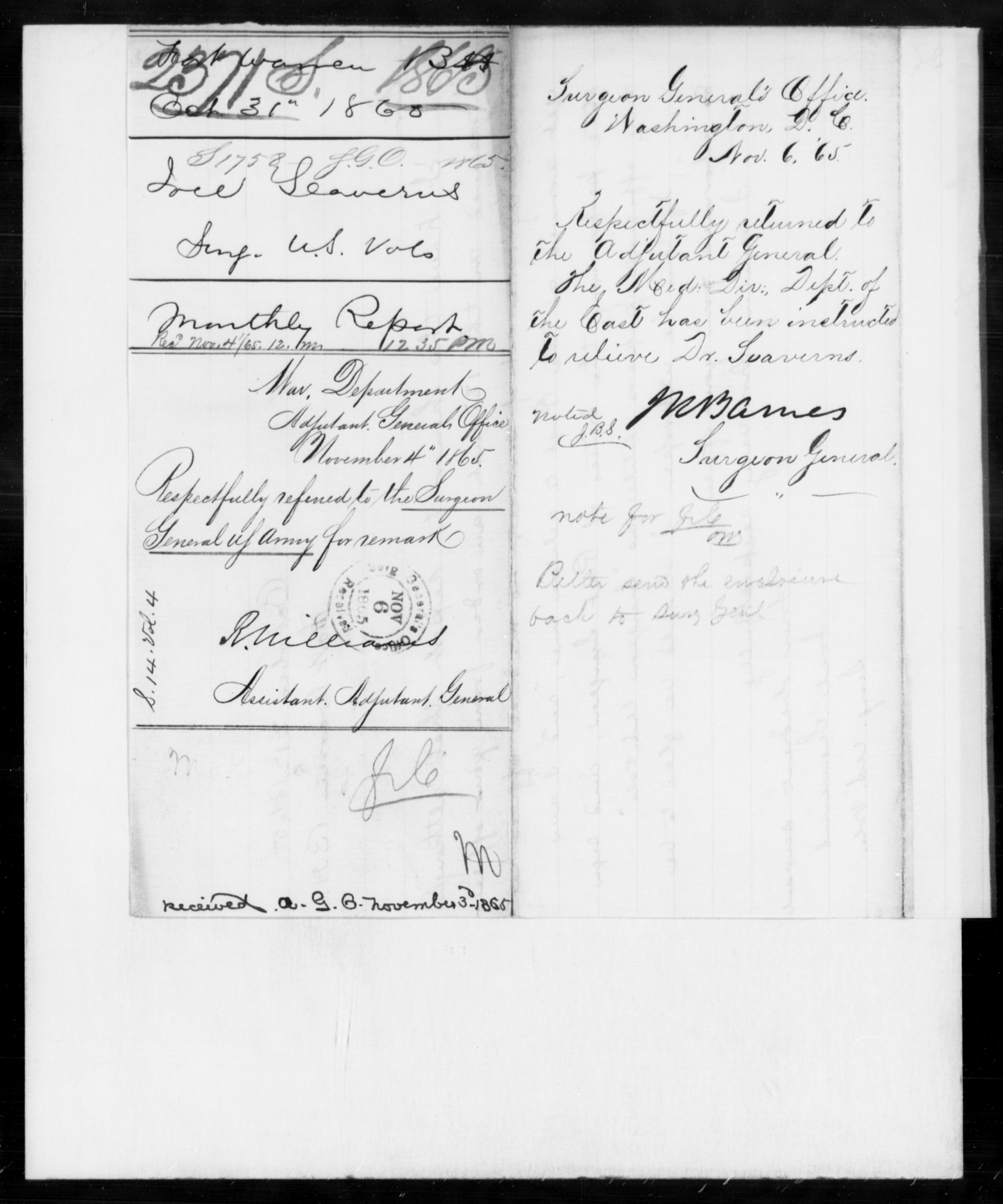 1865 - Seaverus, Joel - File No. S2371