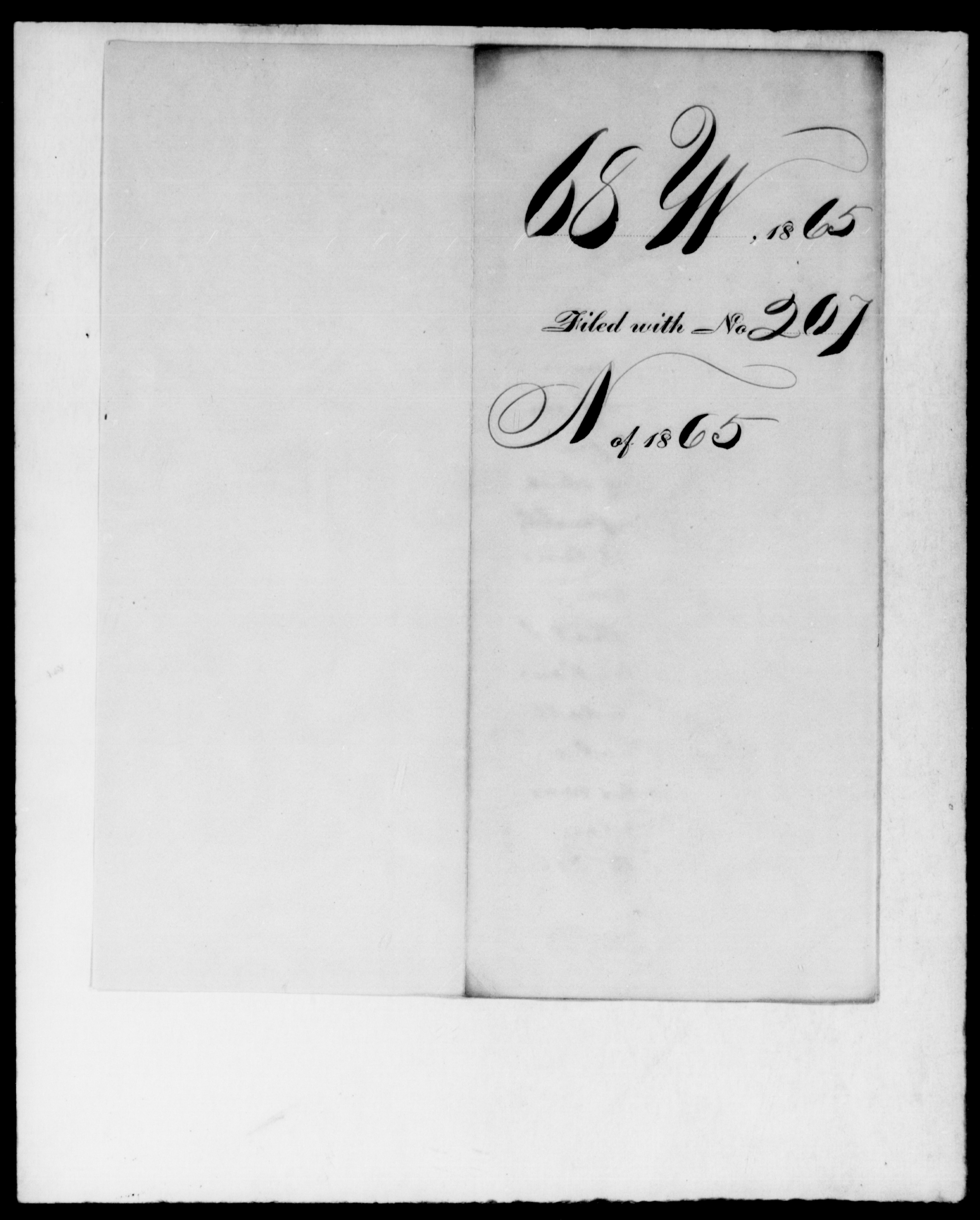1865 - [Blank], [Blank] - File No. W68