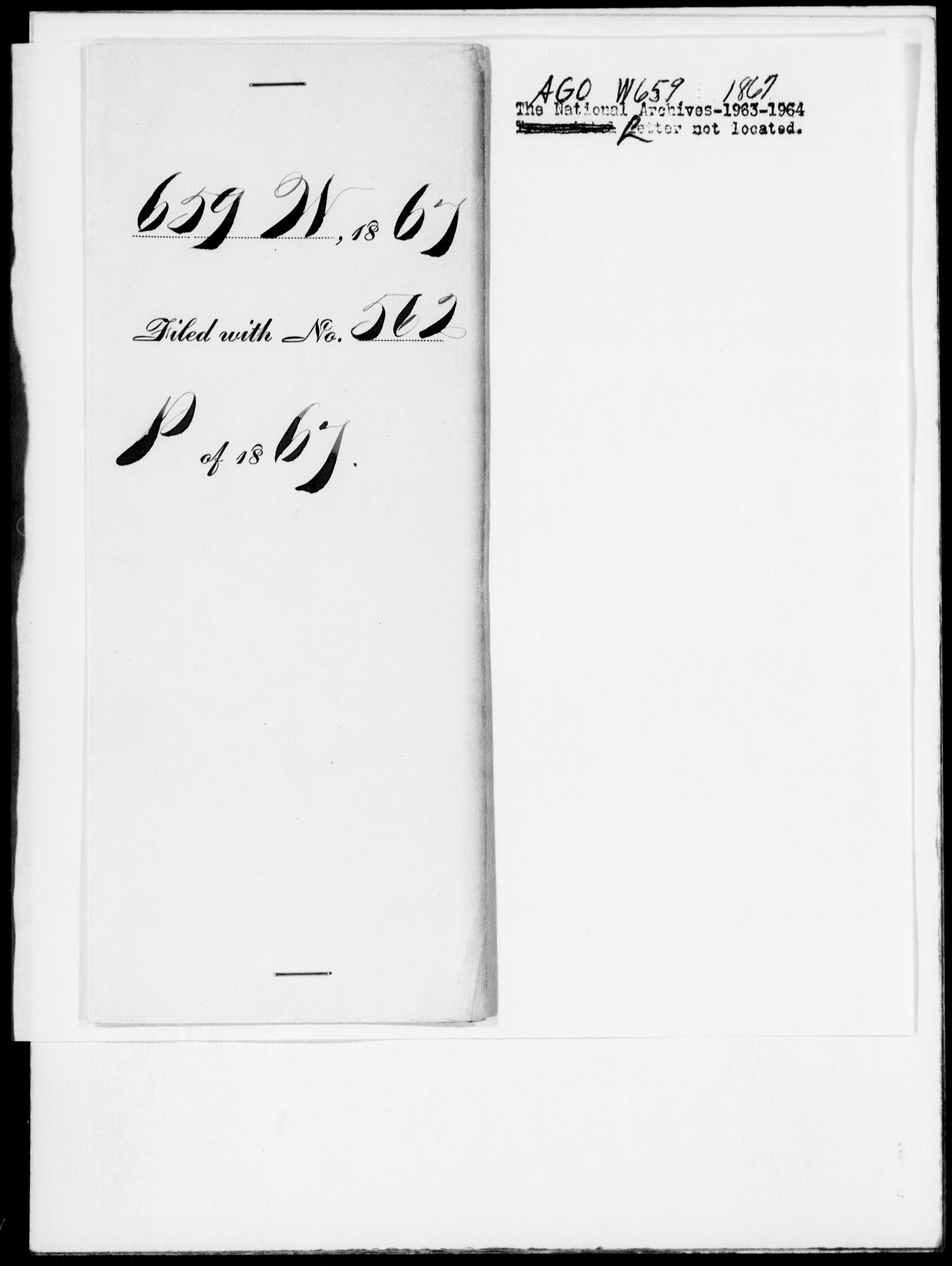 1867 - [Blank], Lloyd - File No. W659