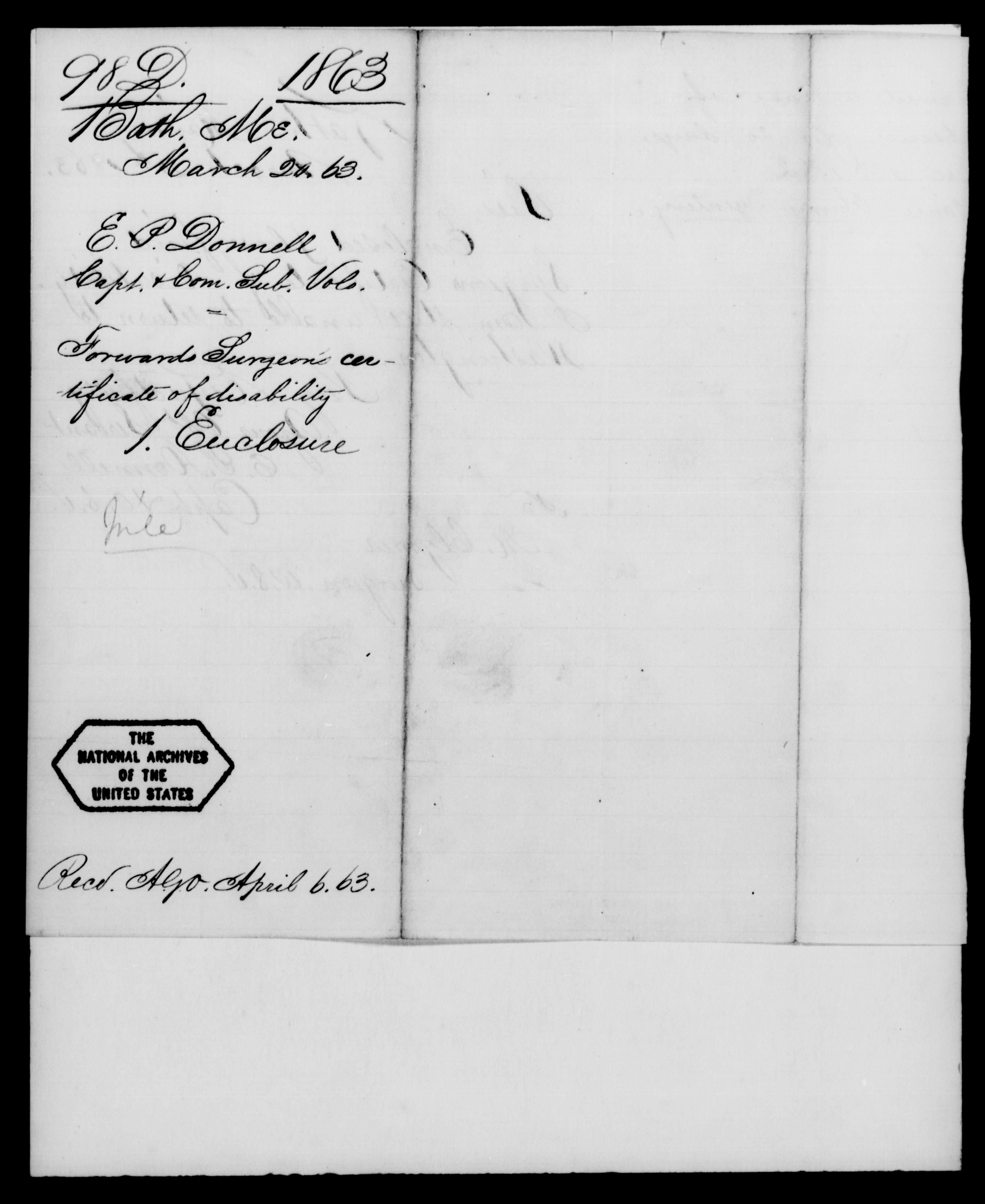 1861 - Darling, J A - File No. D98