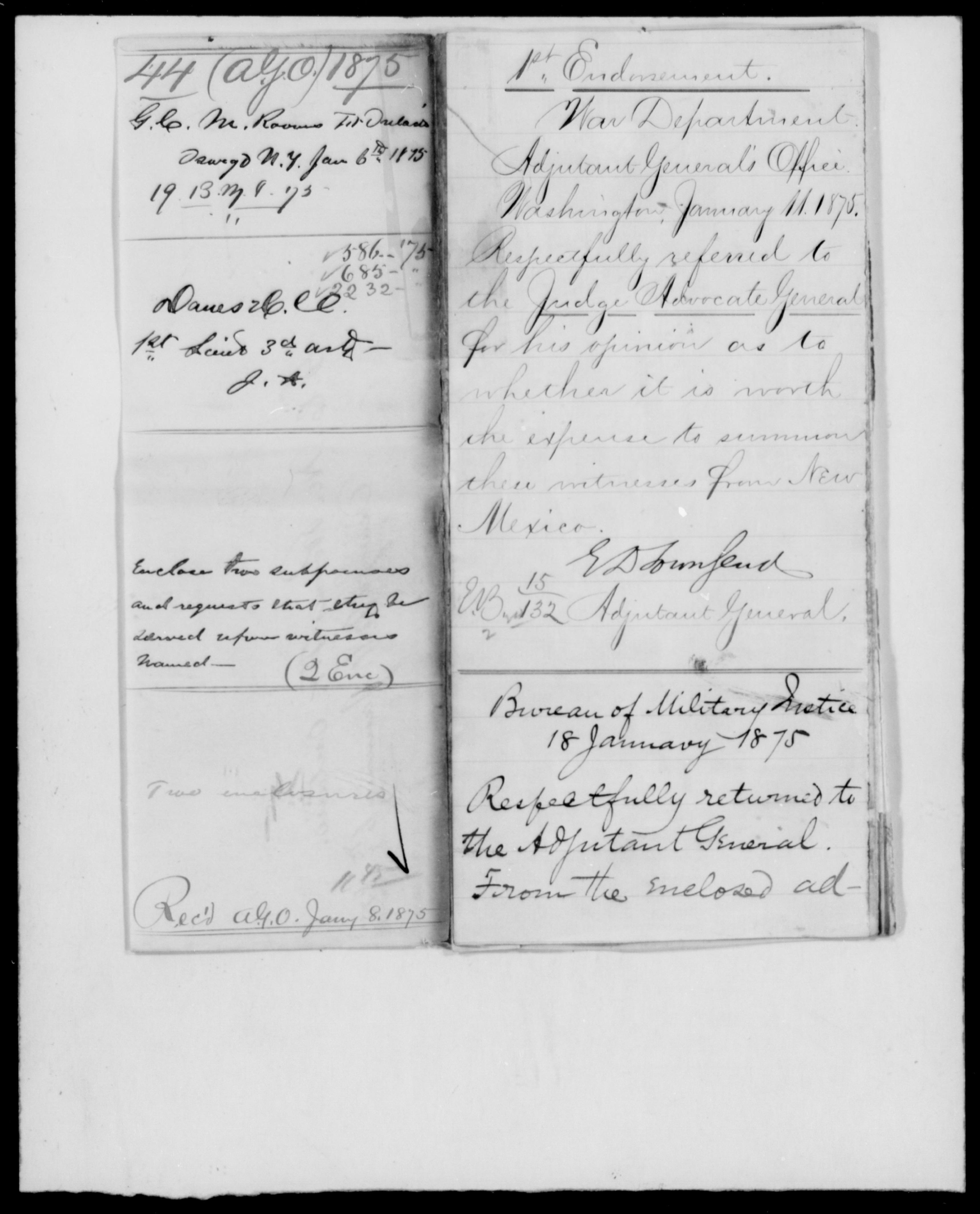 1875 - File No. 44 (Danes, H C - New York)