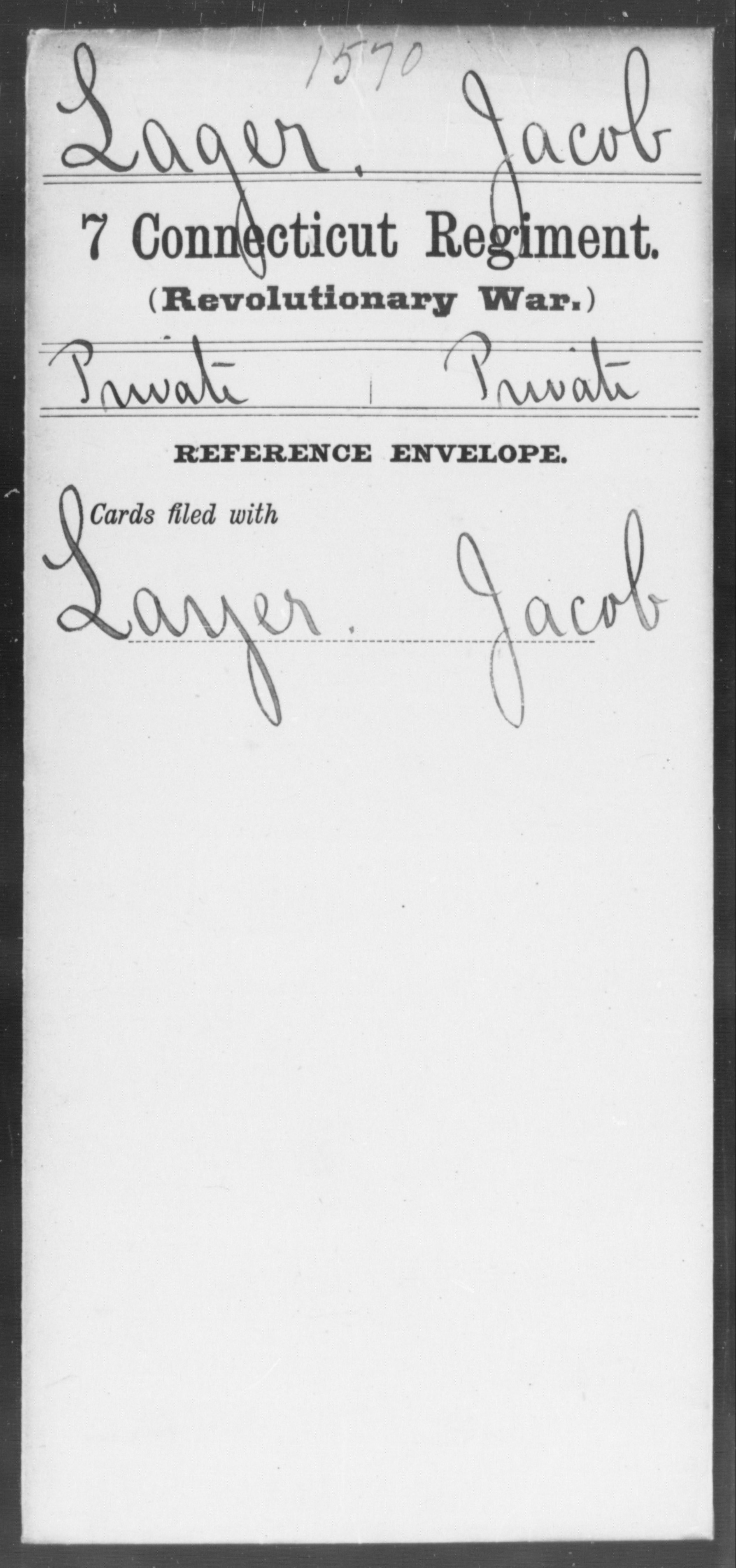 Lager, Jocob - Connecticut - Seventh Regiment