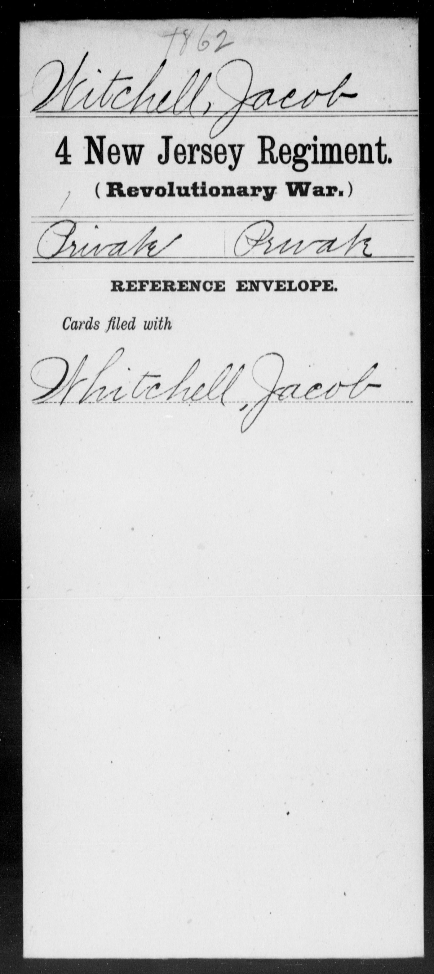 Witchell, Jacob - New Jersey - Fourth Regiment