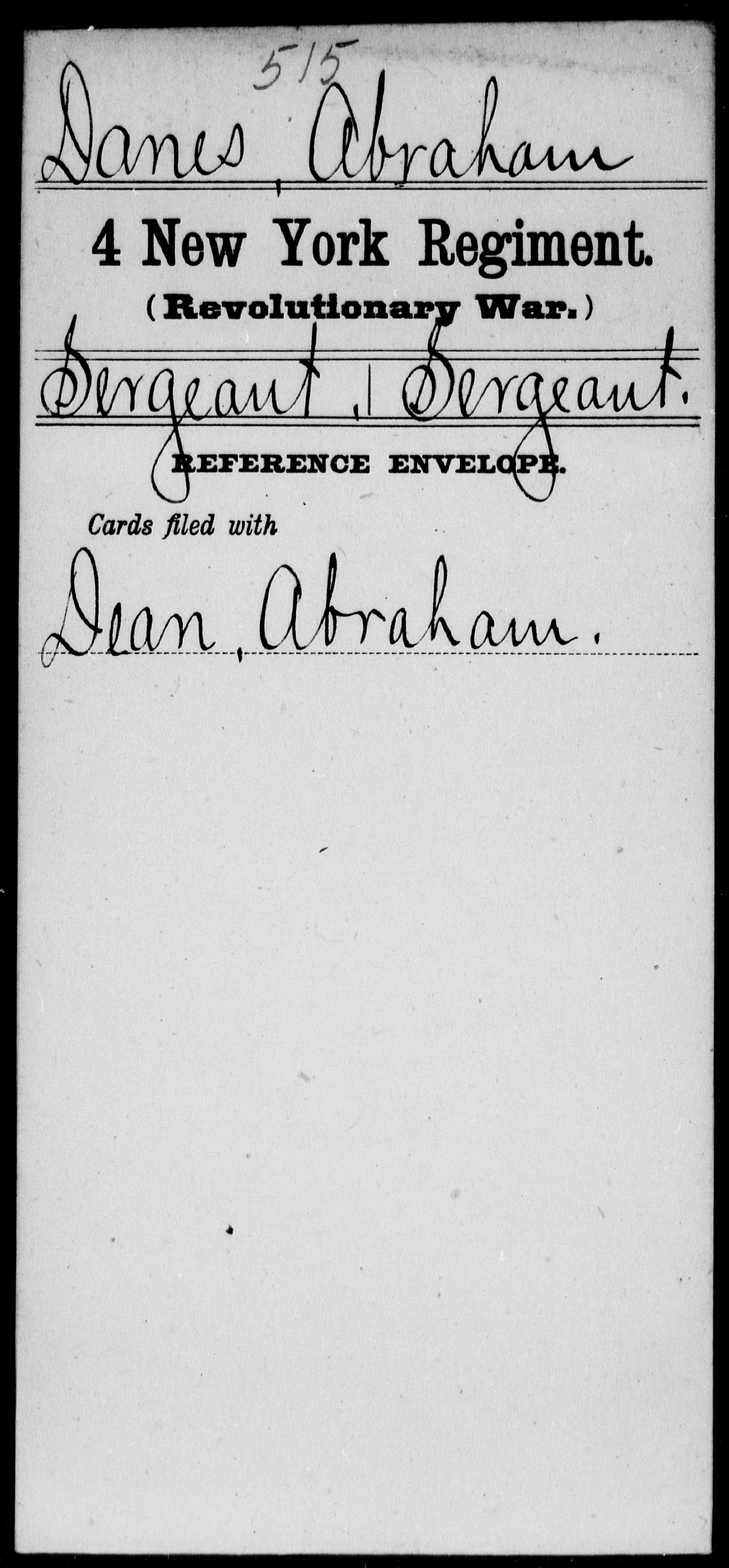 Danes, Abraham - New York - Fourth Regiment