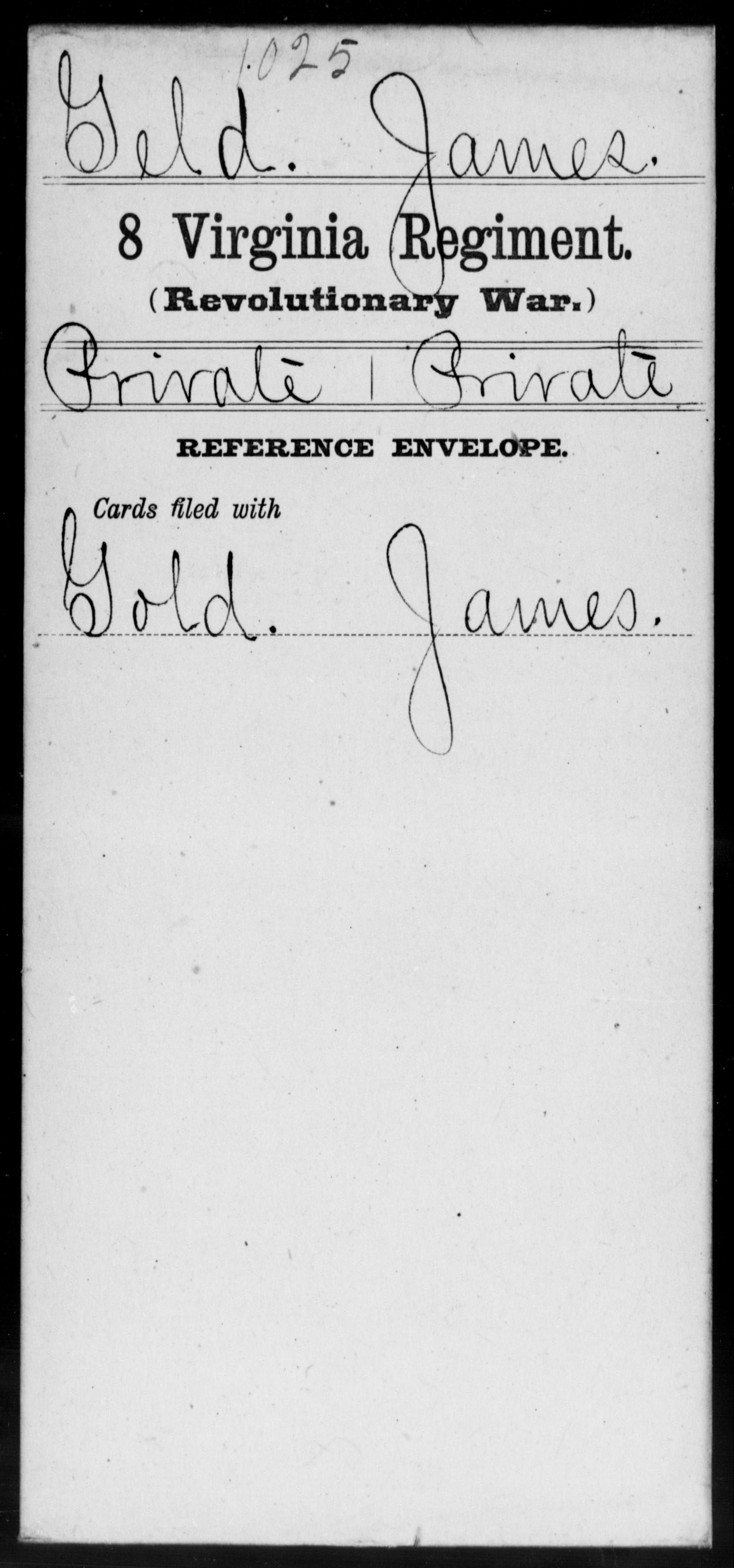 Geld, James - Virginia - Eighth Regiment