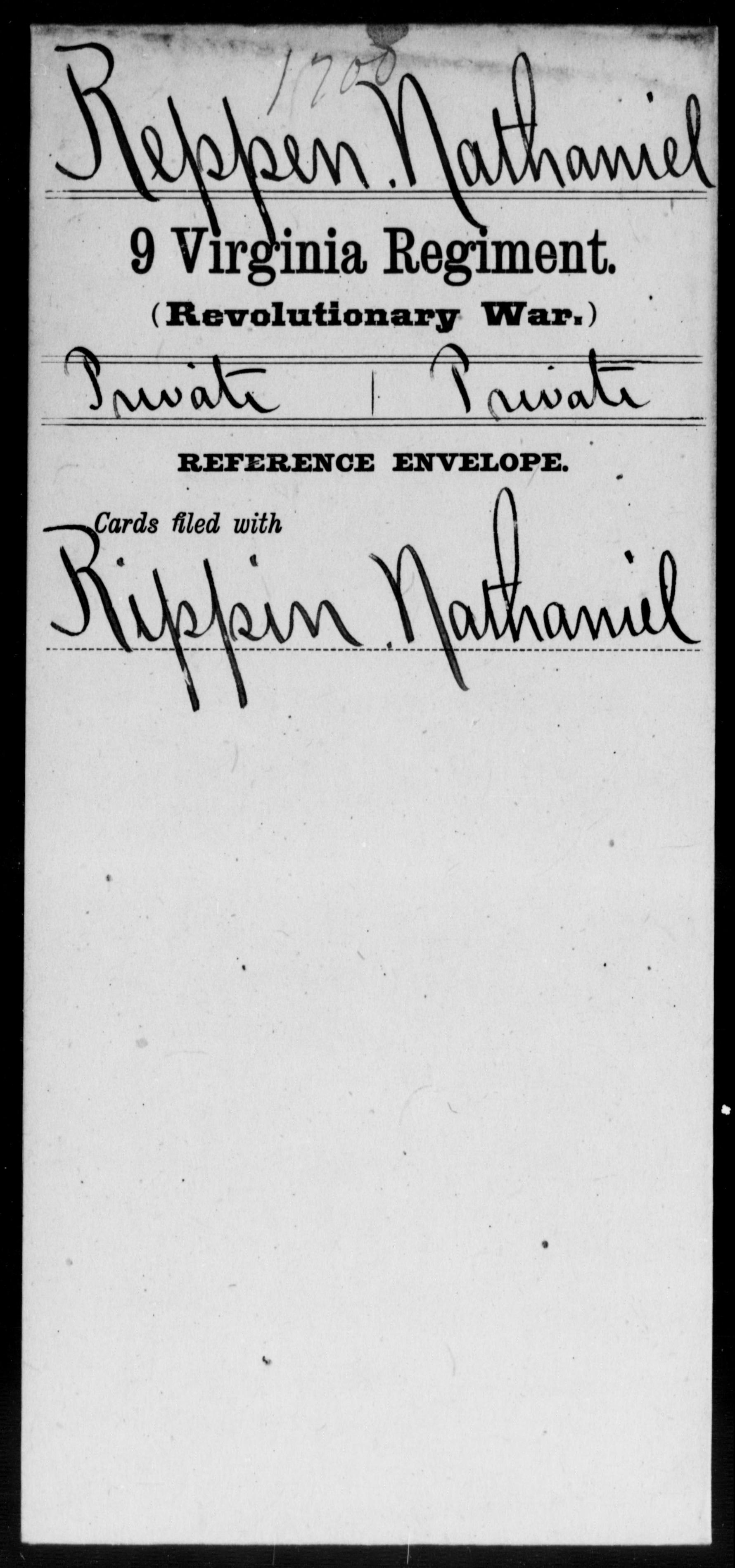 Reppen, Nathaniel - Virginia - Ninth Regiment