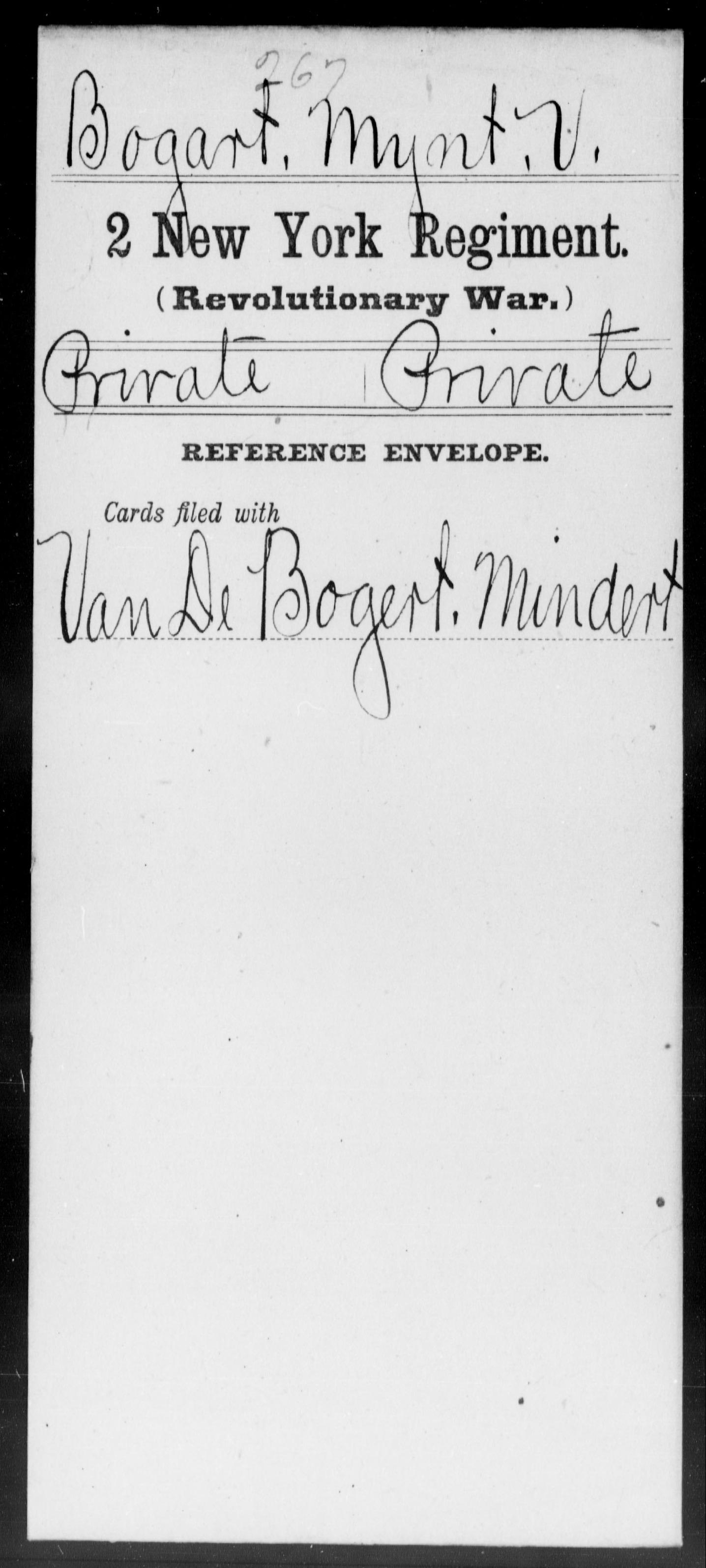 Bogart, Mynt V - New York - Second Regiment