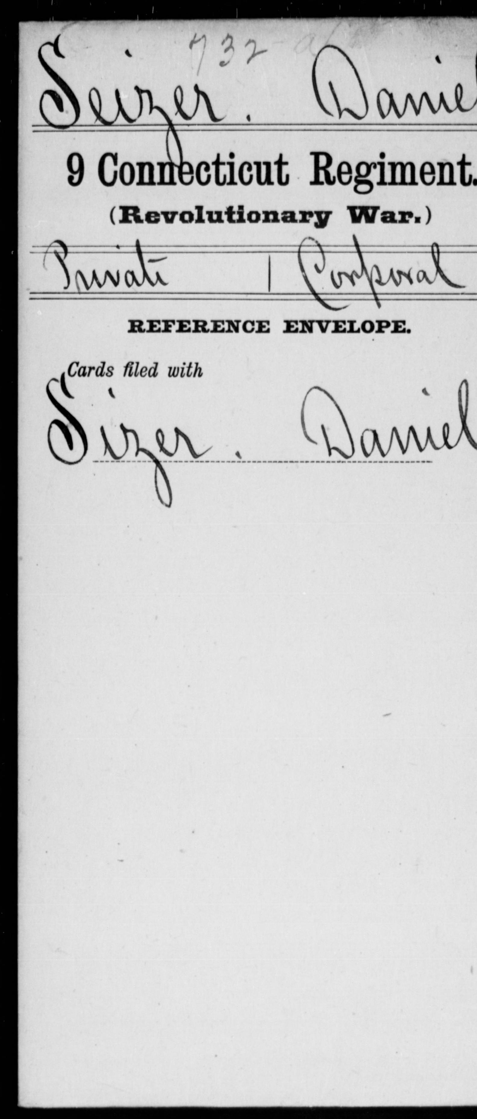 Seizer, Danie - Connecticut - Ninth Regiment
