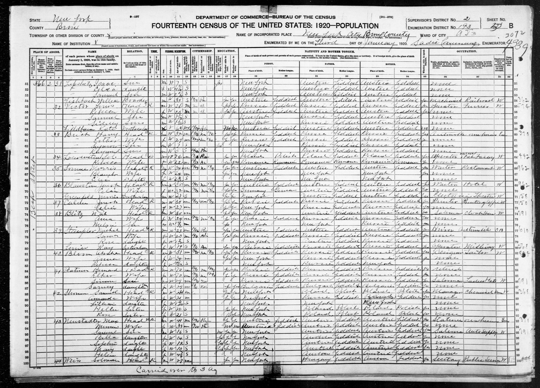 New York: BRONX County, Enumeration District 193, Sheet No. 5B