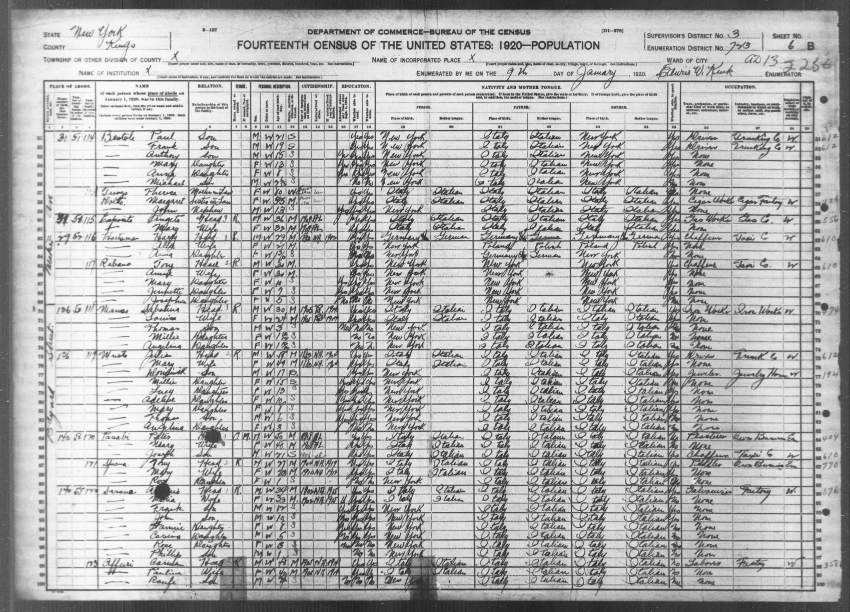 New York: KINGS County, Enumeration District 723, Sheet No. 6B