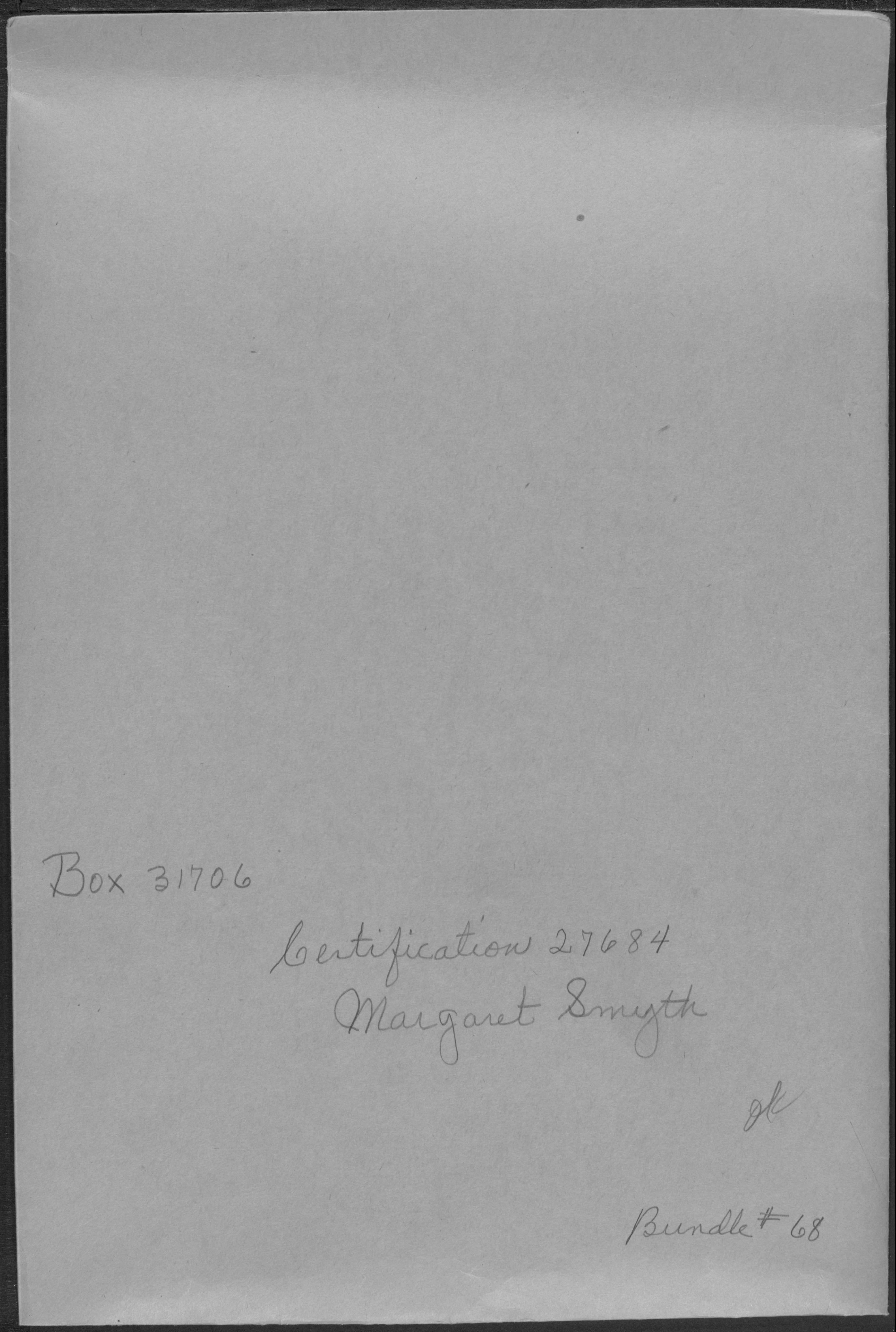 Approved Pension Application File for Margaret Harrison Smyth, Widow of George F Smyth, Company I, 3rd Rhode Island Artillery Regiment (Application No. WC27684)