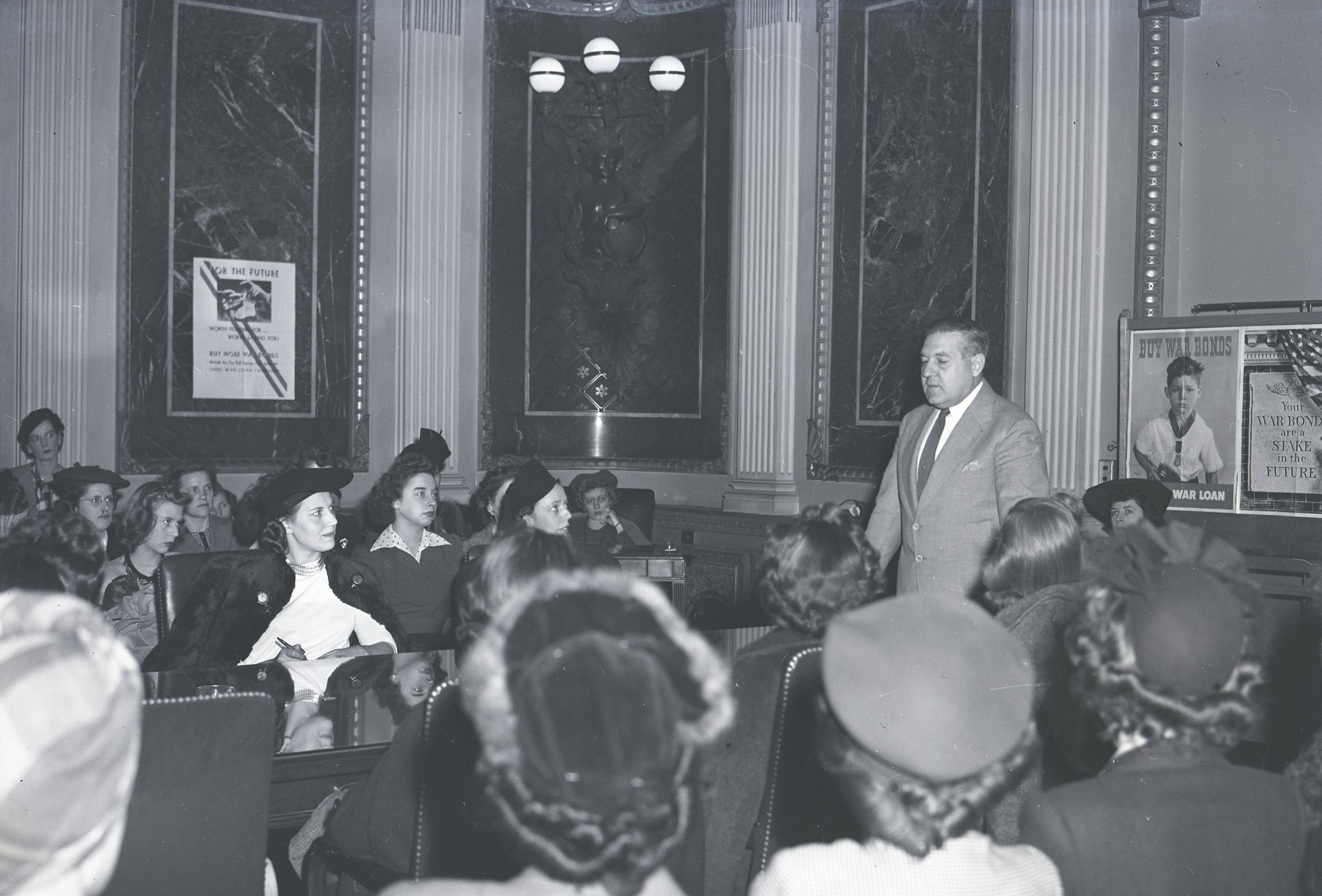 Photograph of Raymond Geist Talking to Foreign Service Trainees