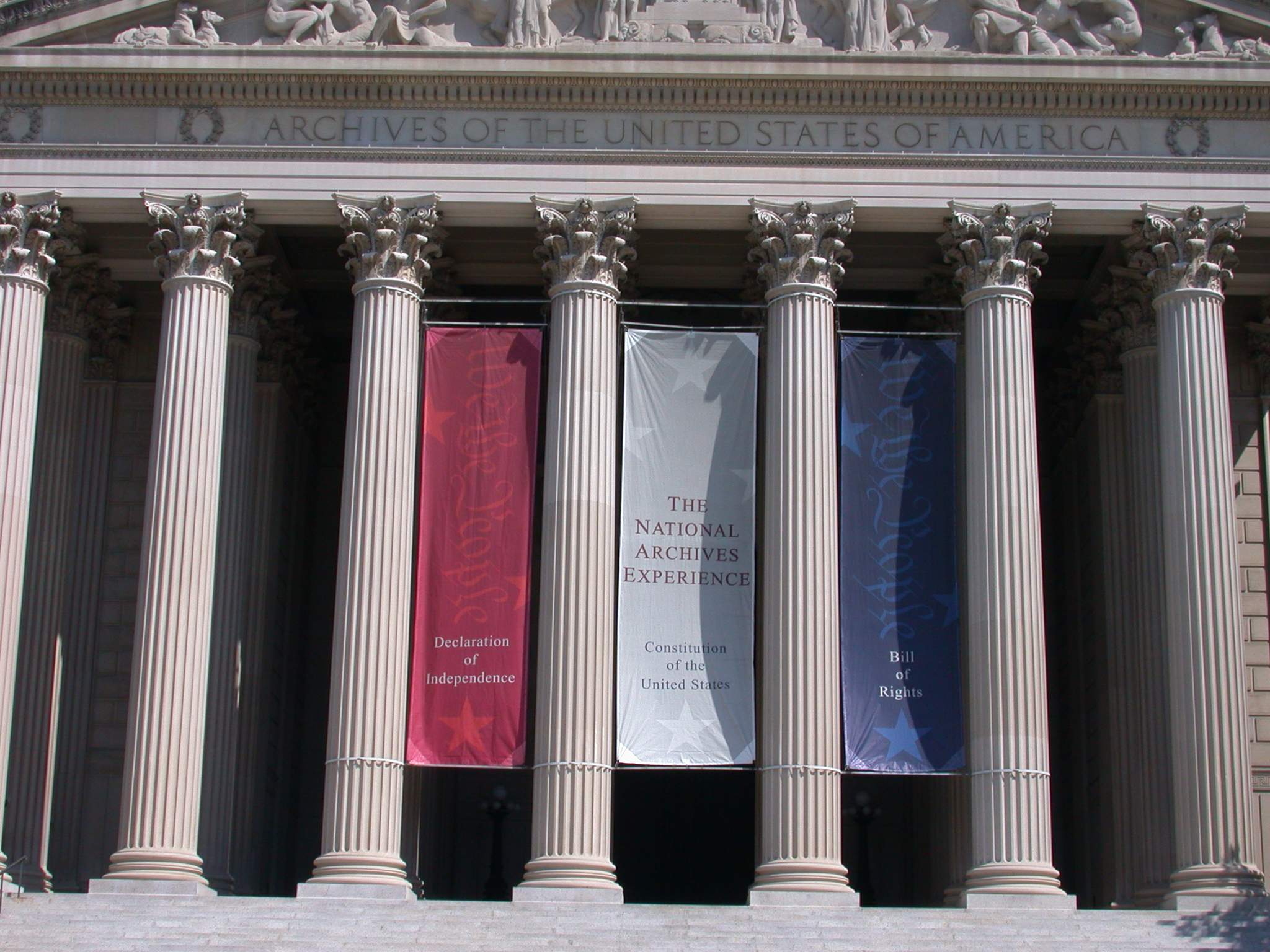 Archives I Building with Banners
